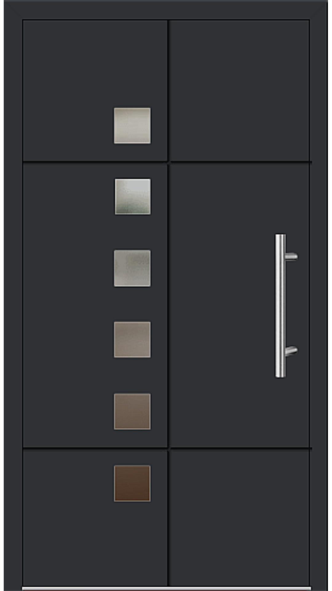 Aluminium Haustür Modell 6534-52 schwarz