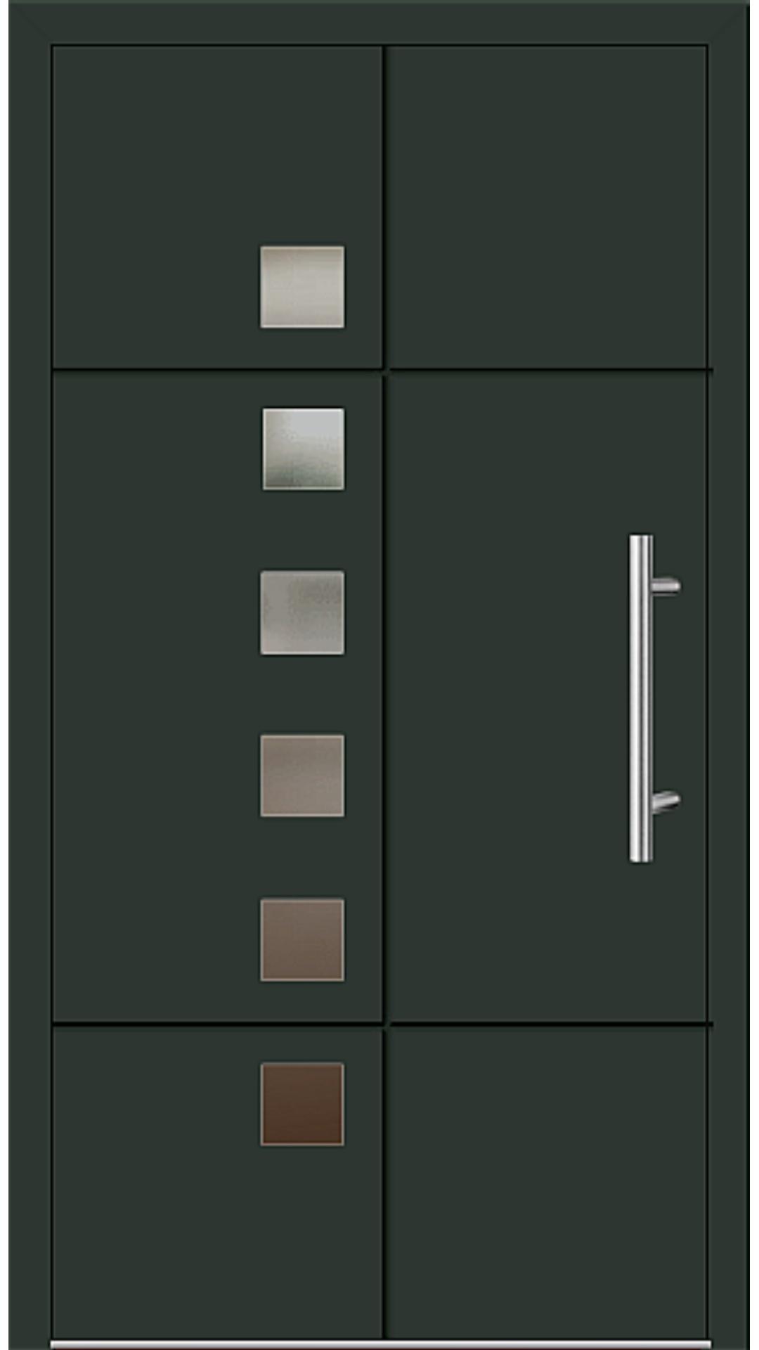 Aluminium Haustür Modell 6534-52 tannengrün