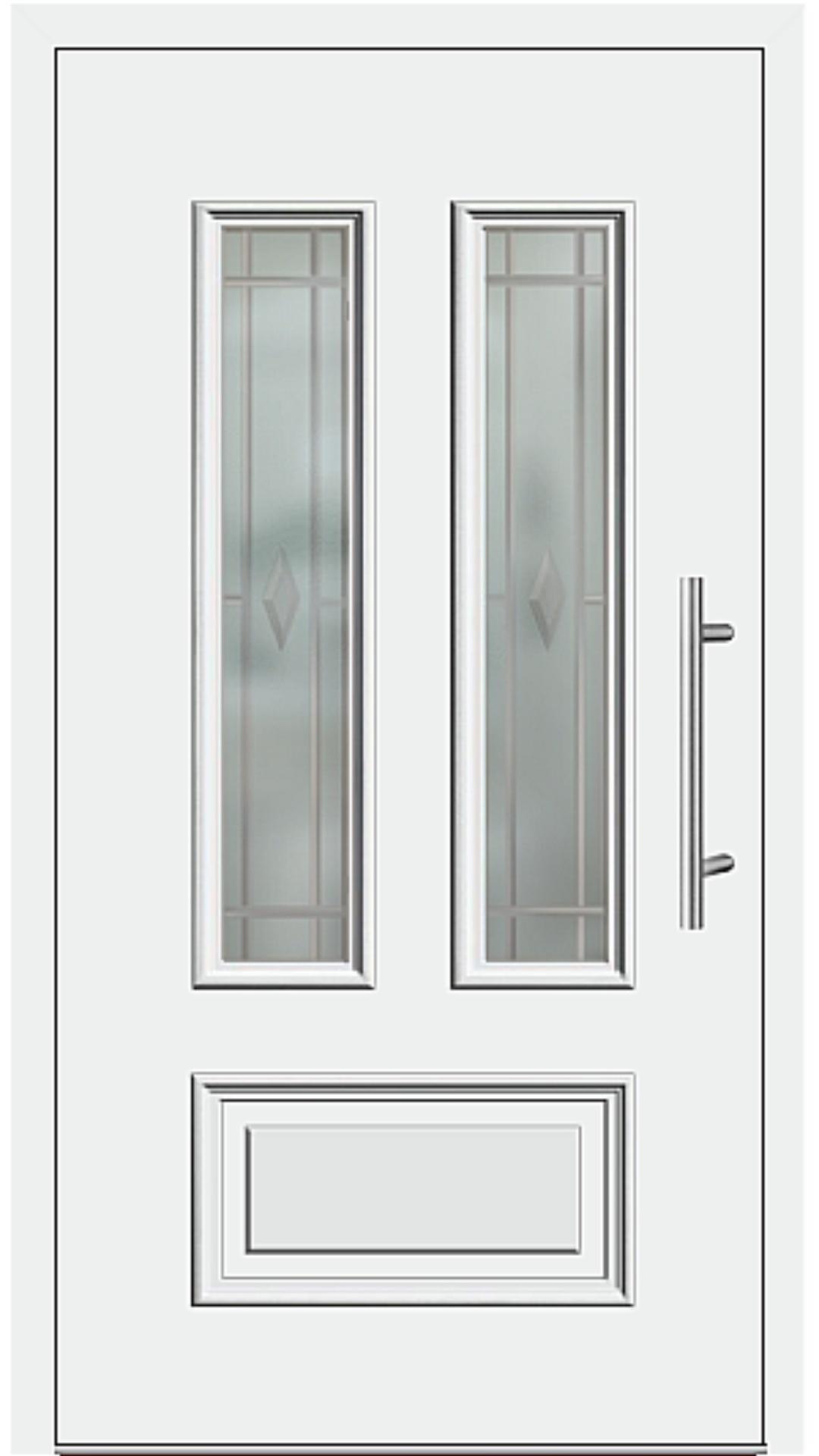 Aluminium Haustür Modell 6547-10 weiß