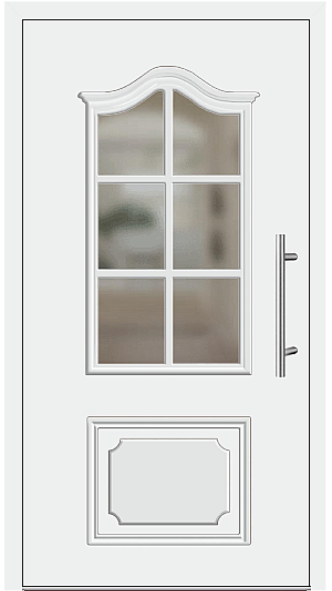 Aluminium Haustür Modell 6554-15 weiß