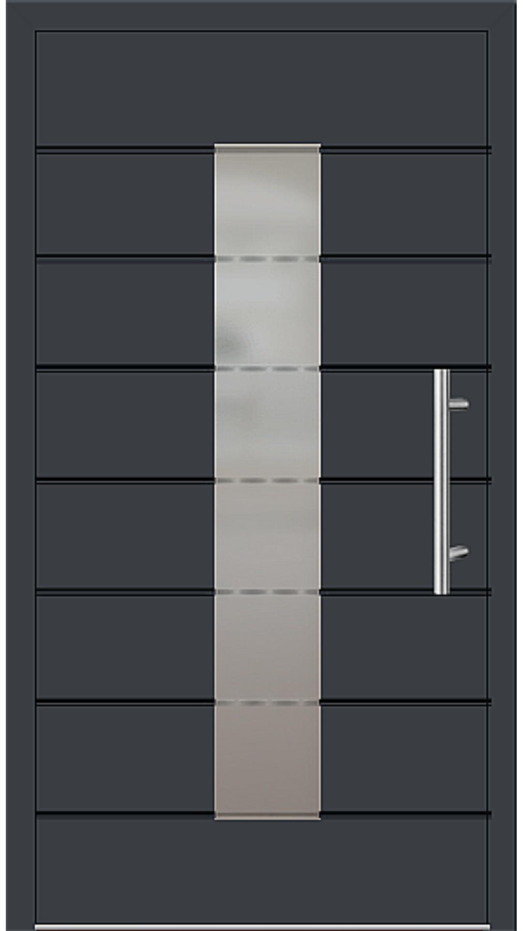 Aluminium Haustür Modell 6559-52 anthrazitgrau
