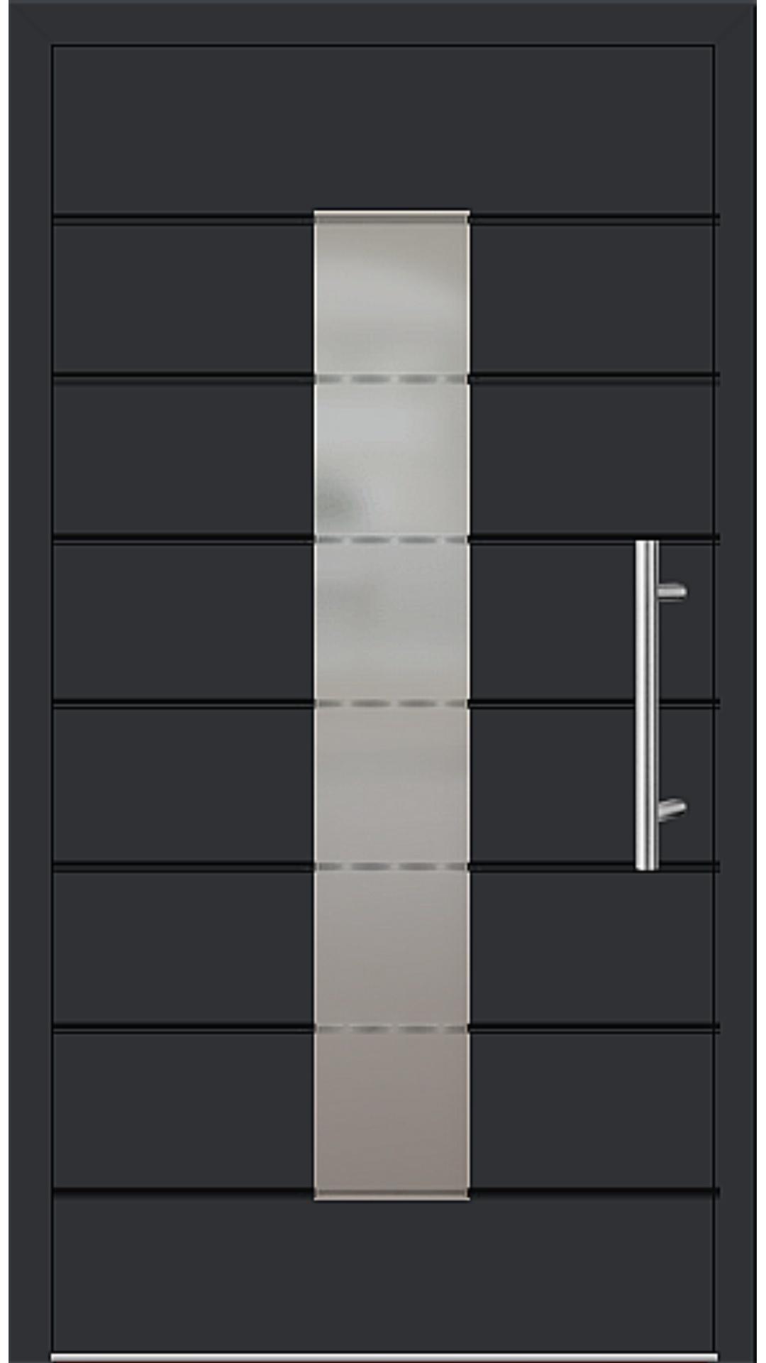 Aluminium Haustür Modell 6559-52 schwarz
