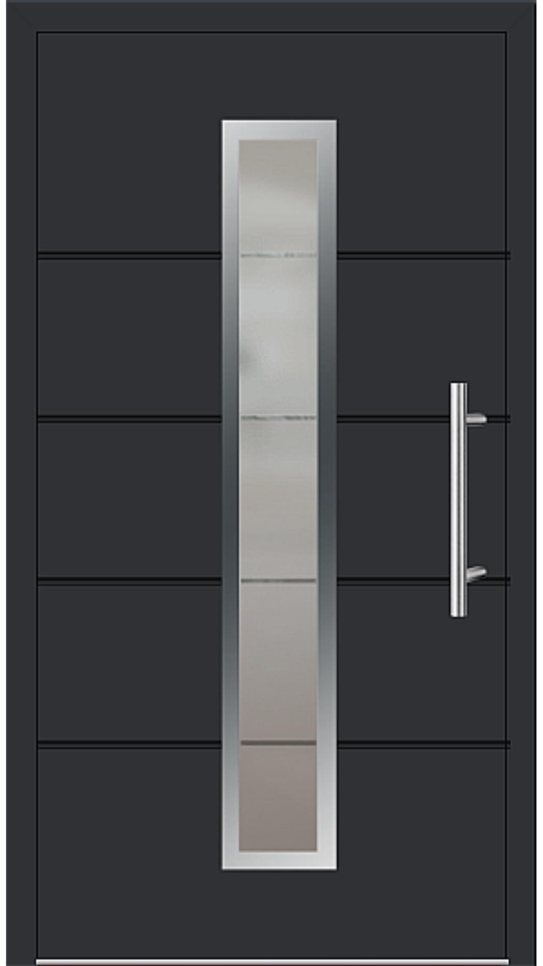 Aluminium Haustür Modell 6560-72 schwarz