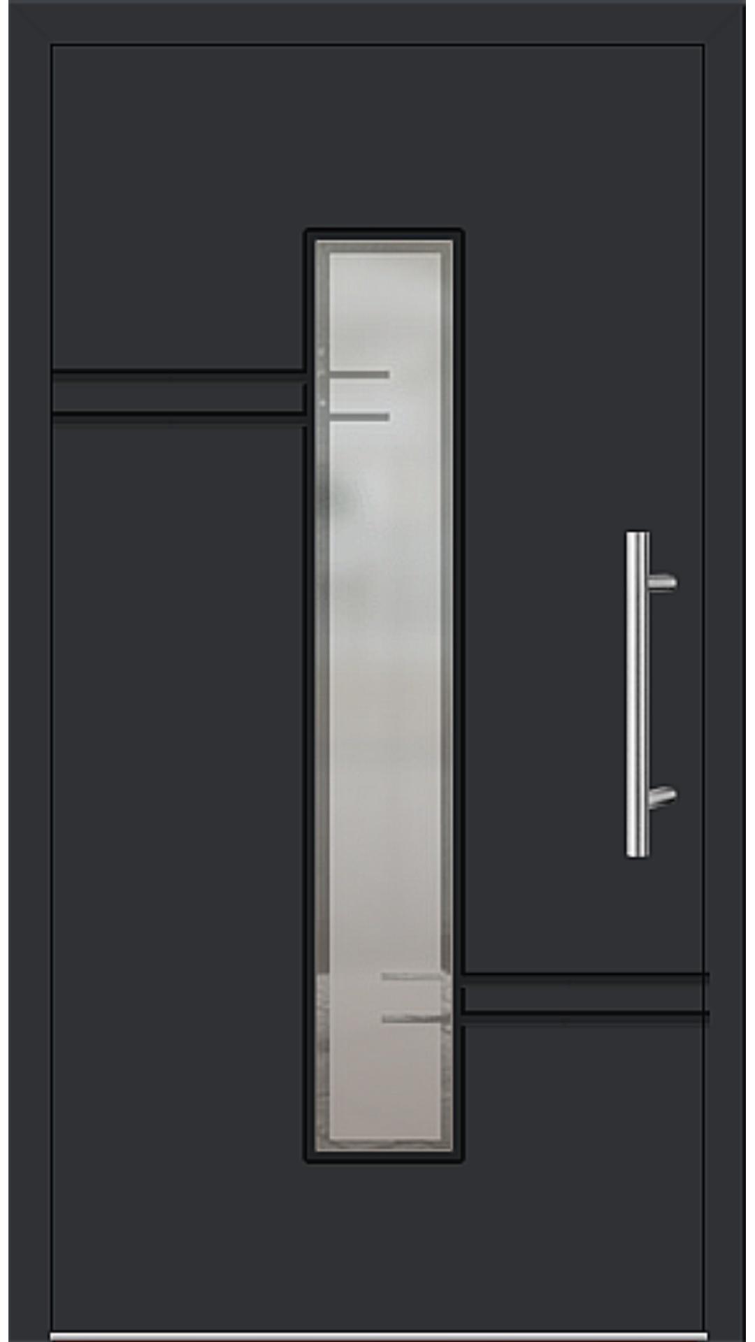 Aluminium Haustür Modell 6814-52 schwarz