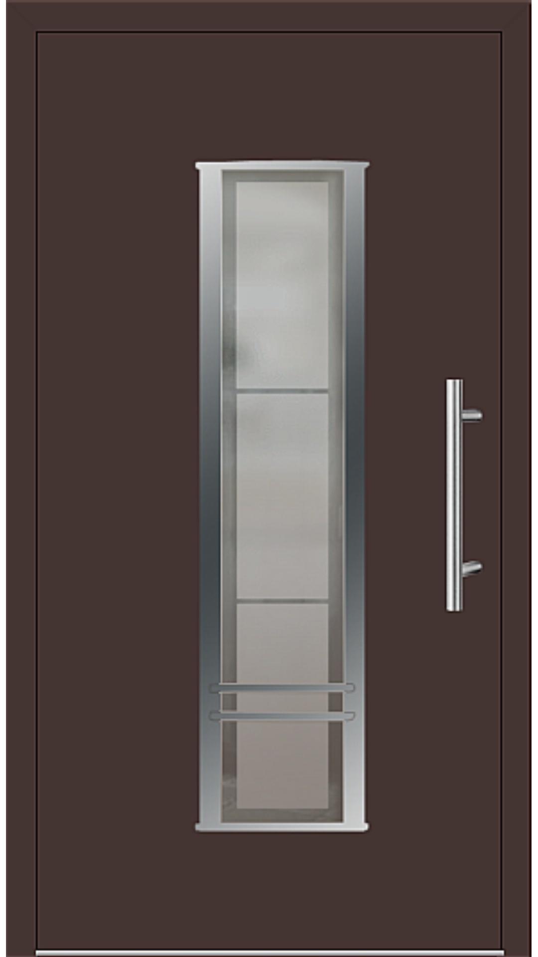 Aluminium Haustür Modell 6817-79 mahagonibraun