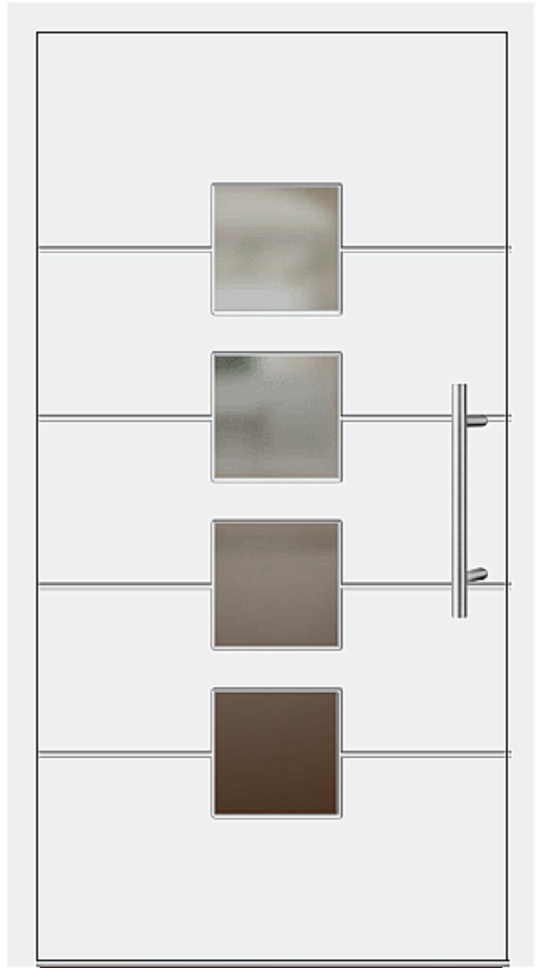 Aluminium Haustür Modell 6821-52 weiß