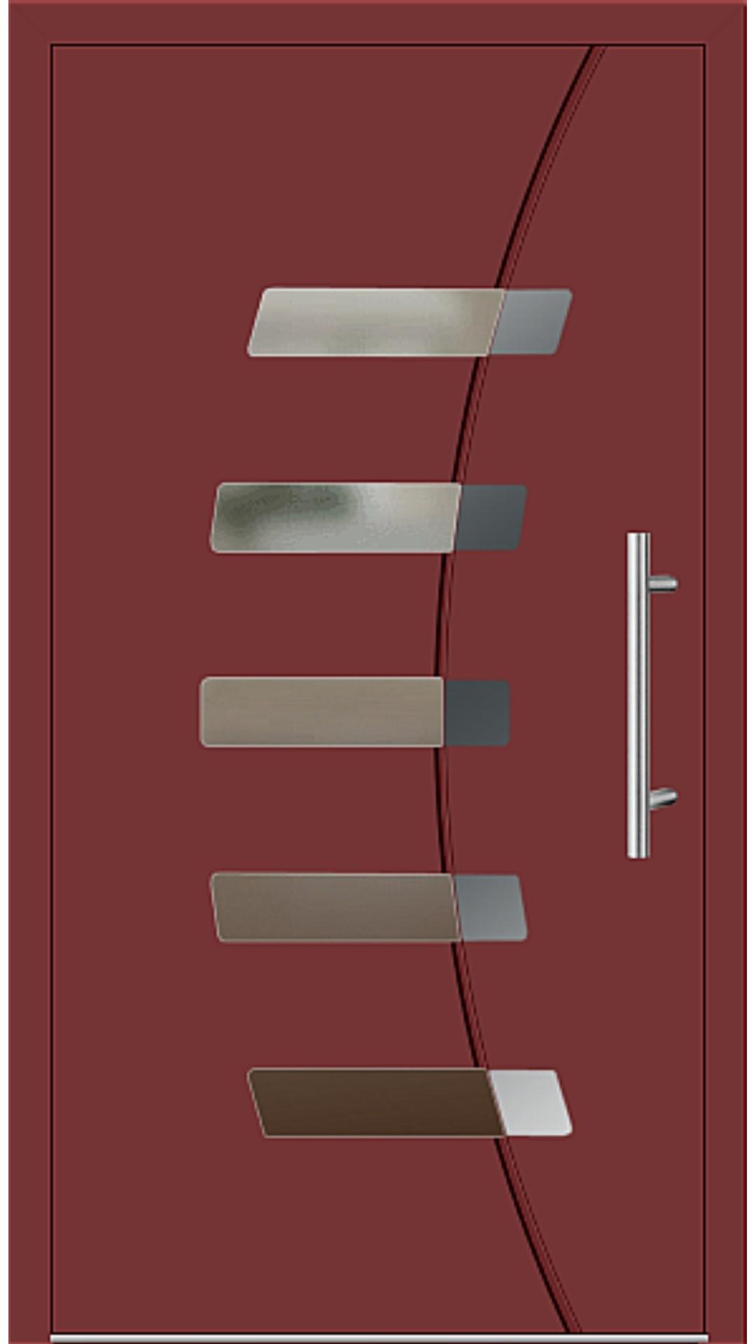 Aluminium Haustür Modell 6828-57 rubinrot