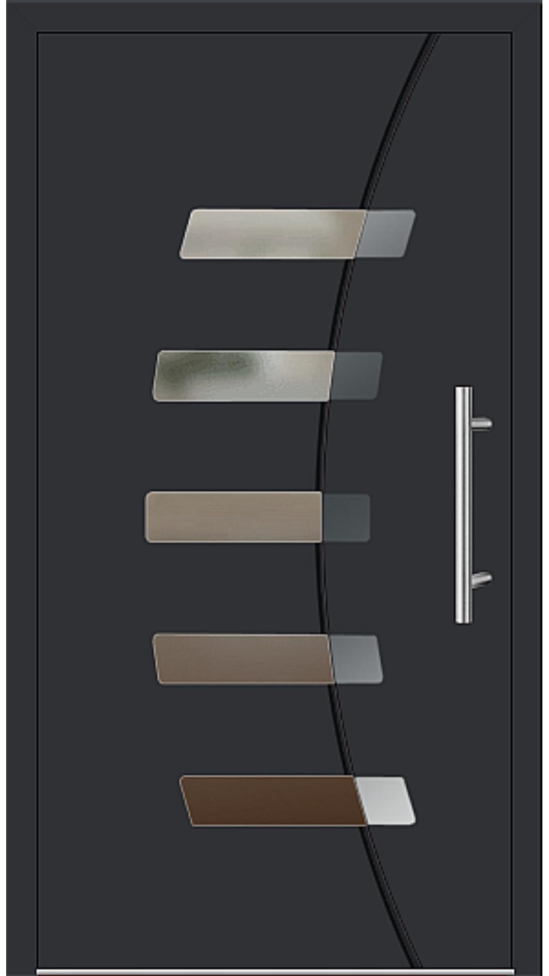 Aluminium Haustür Modell 6828-57 schwarz