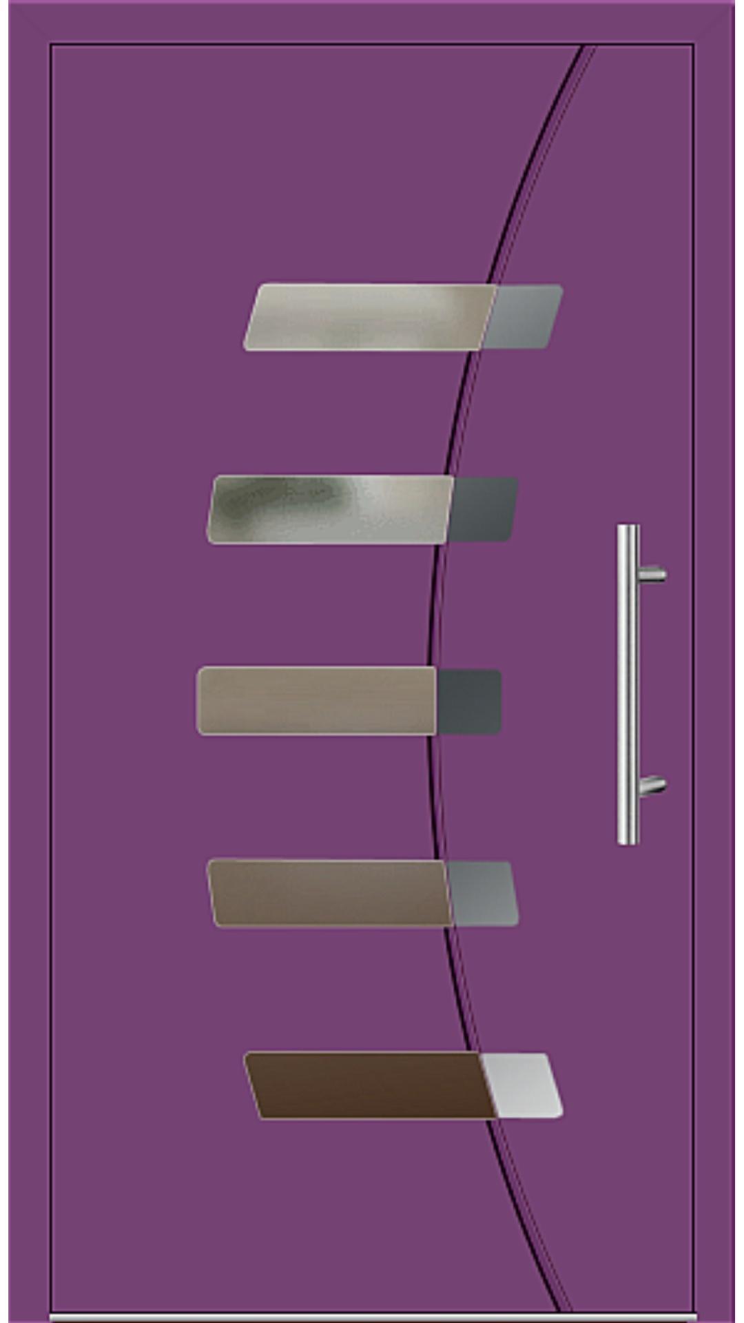 Aluminium Haustür Modell 6828-57 singalviolett