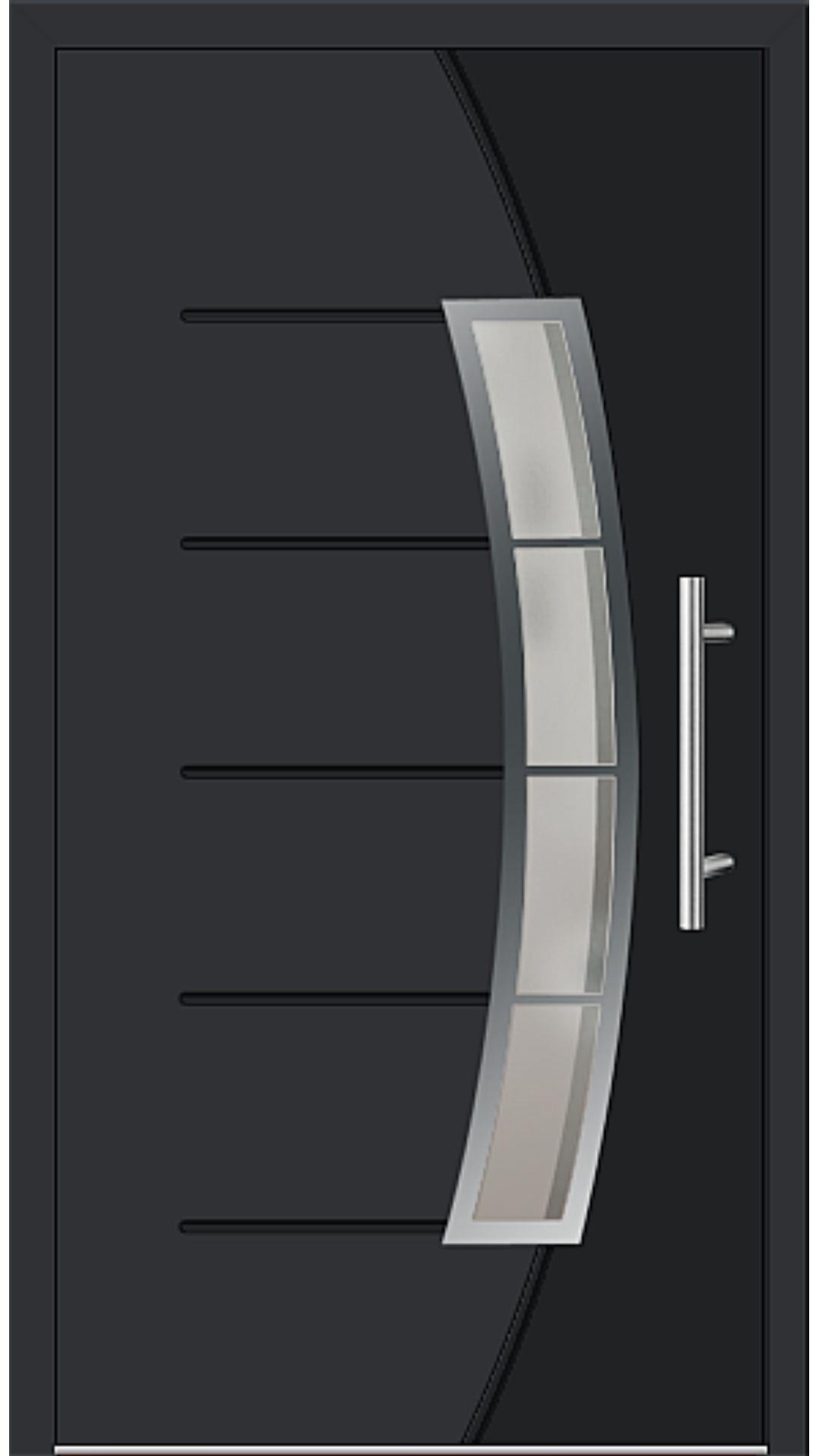 Aluminium Haustür Modell 6830-72 schwarz
