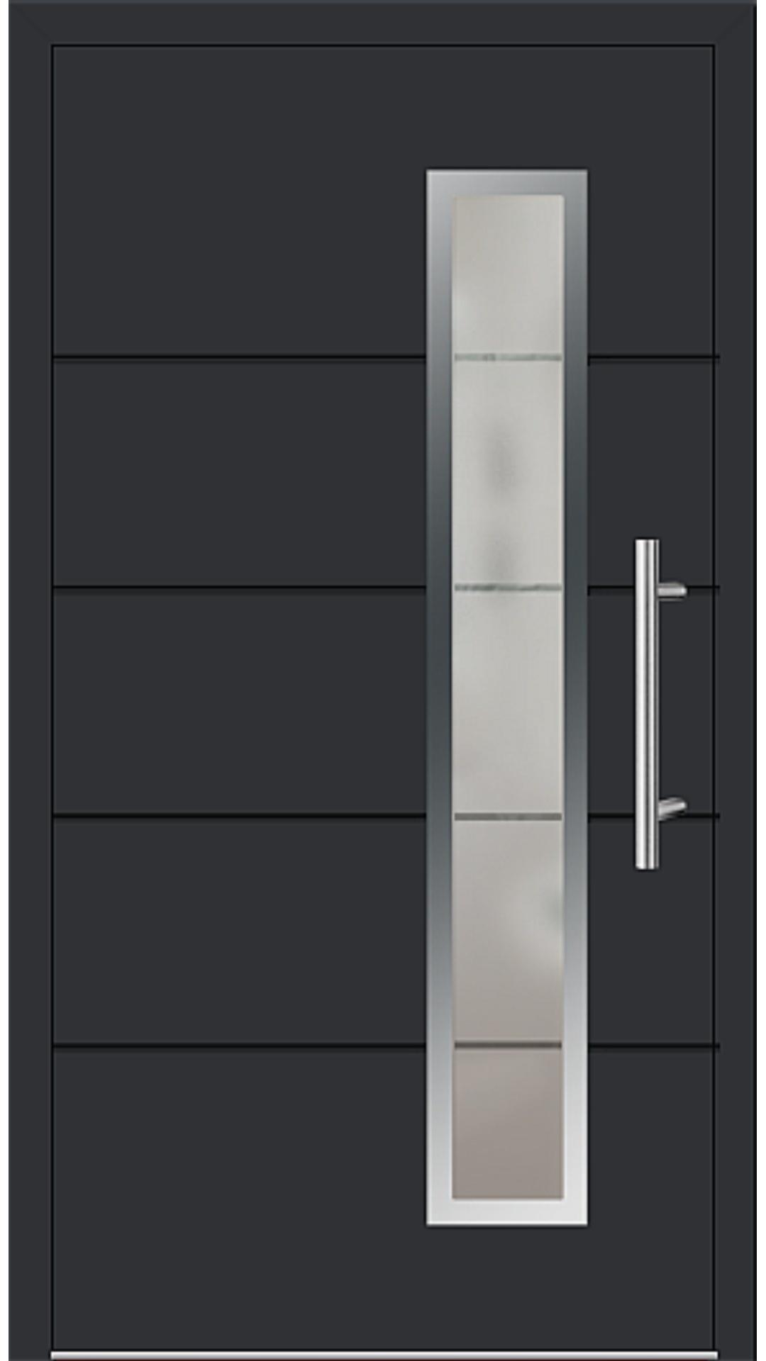 Aluminium Haustür Modell 6848-72 schwarz