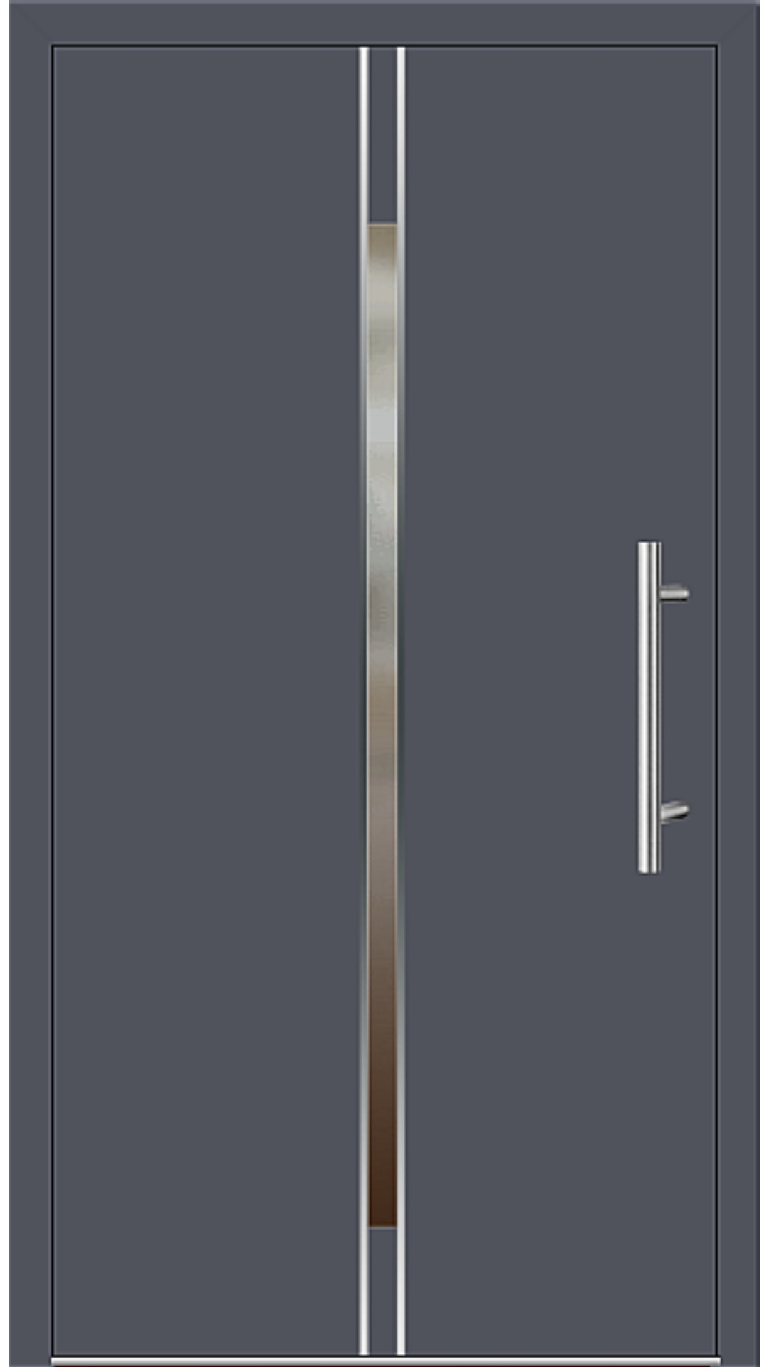 Aluminium Haustür Modell 6864-53 schiefergrau