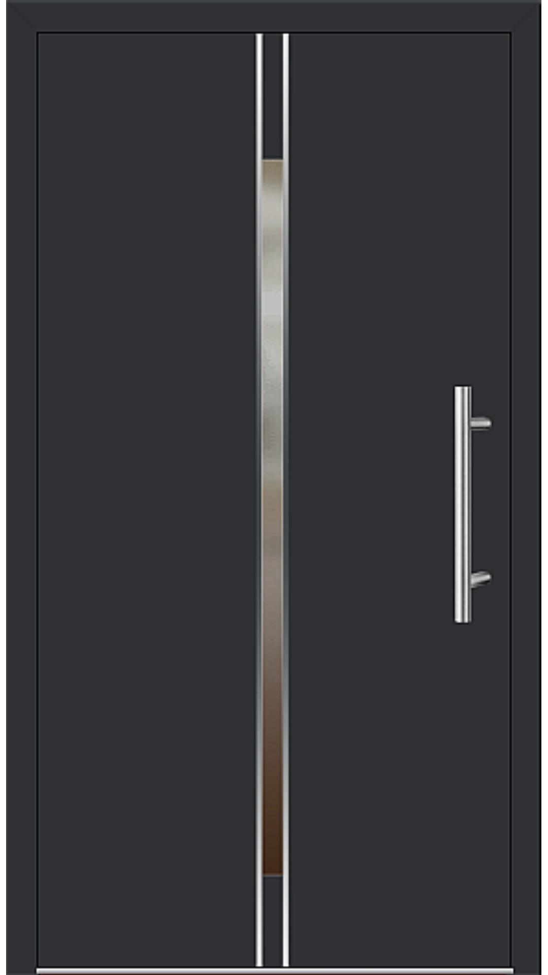 Aluminium Haustür Modell 6864-53 schwarz