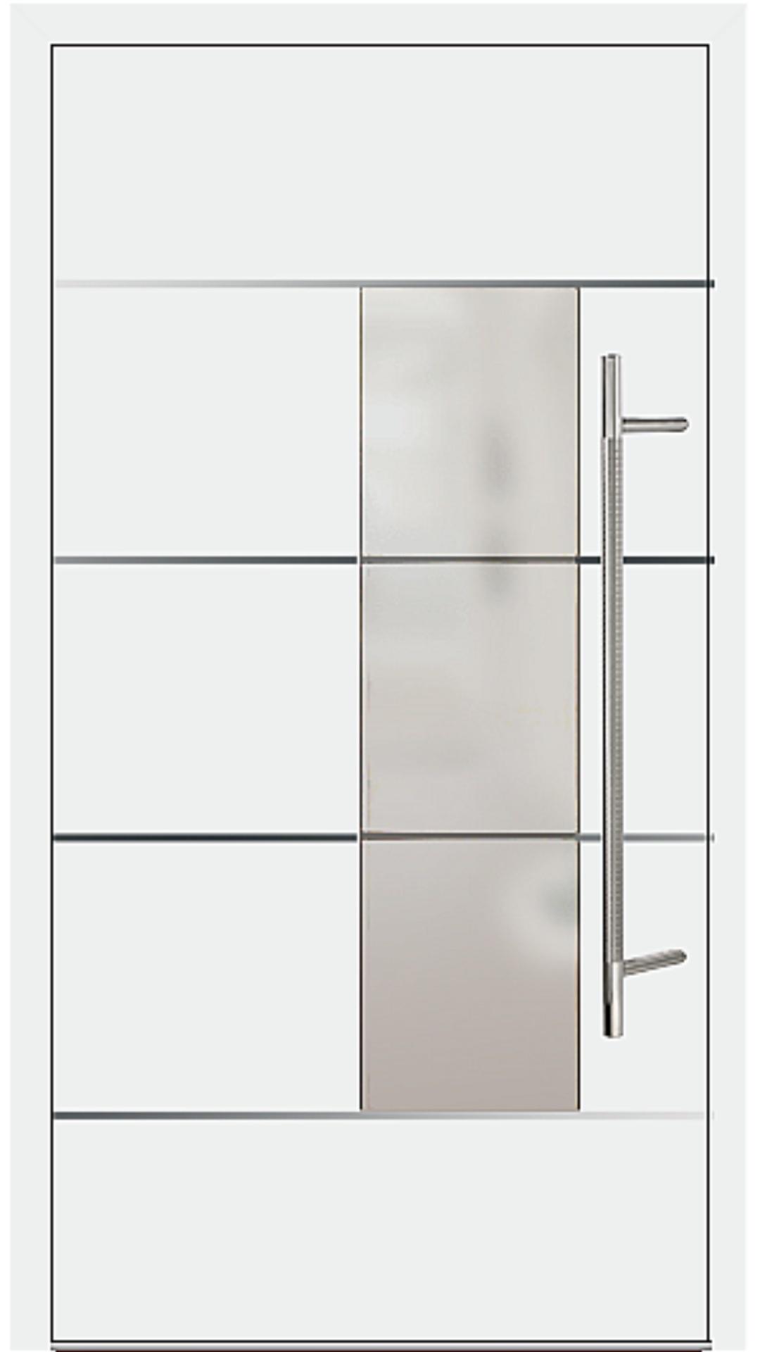 Aluminium Haustür Modell 6878-54 weiß