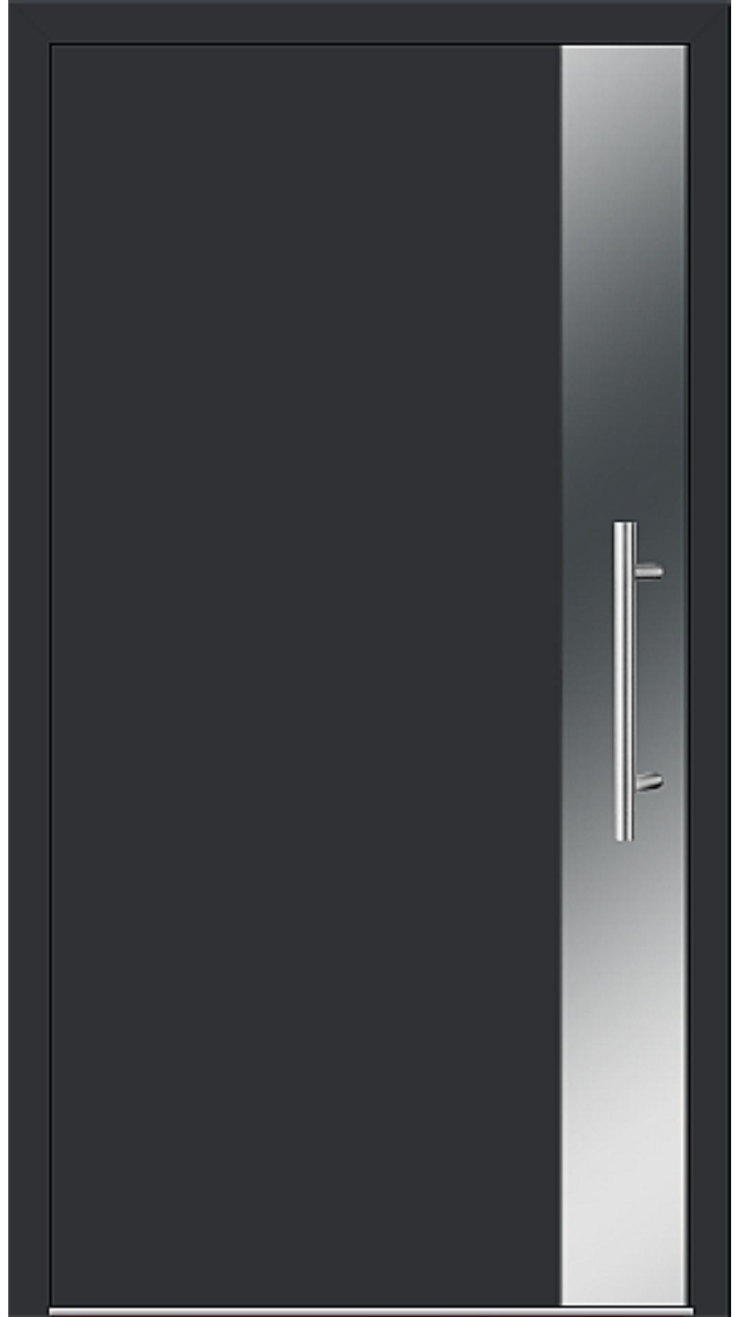Aluminium Haustür Modell 6903-97 schwarz