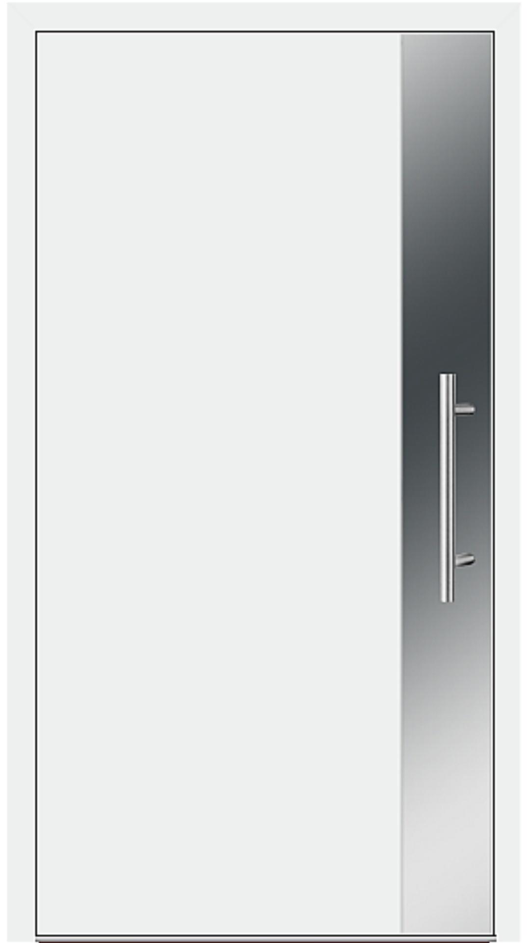 Aluminium Haustür Modell 6903-97 weiß