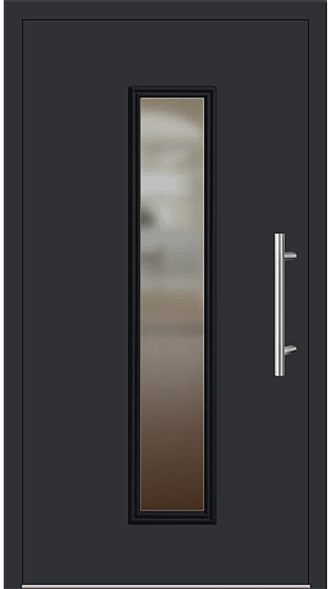 Aluminium Haustür Modell 6921-60 schwarz