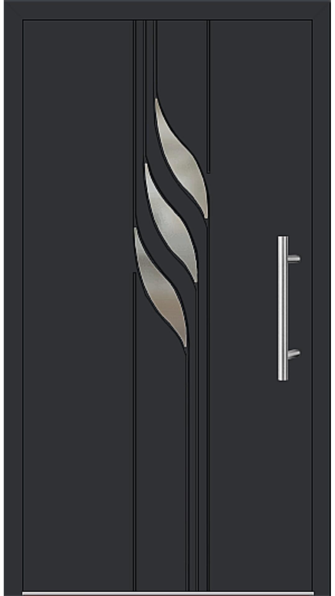Aluminium Haustür Modell 6934-40 schwarz