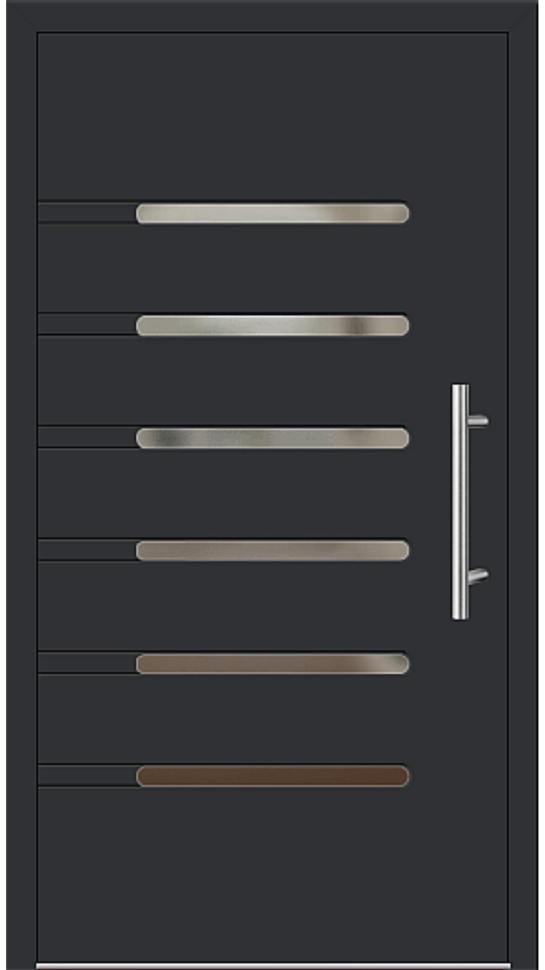 Aluminium Haustür Modell 6936-40 schwarz