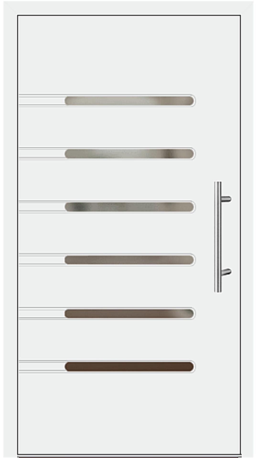 Aluminium Haustür Modell 6936-40 weiß