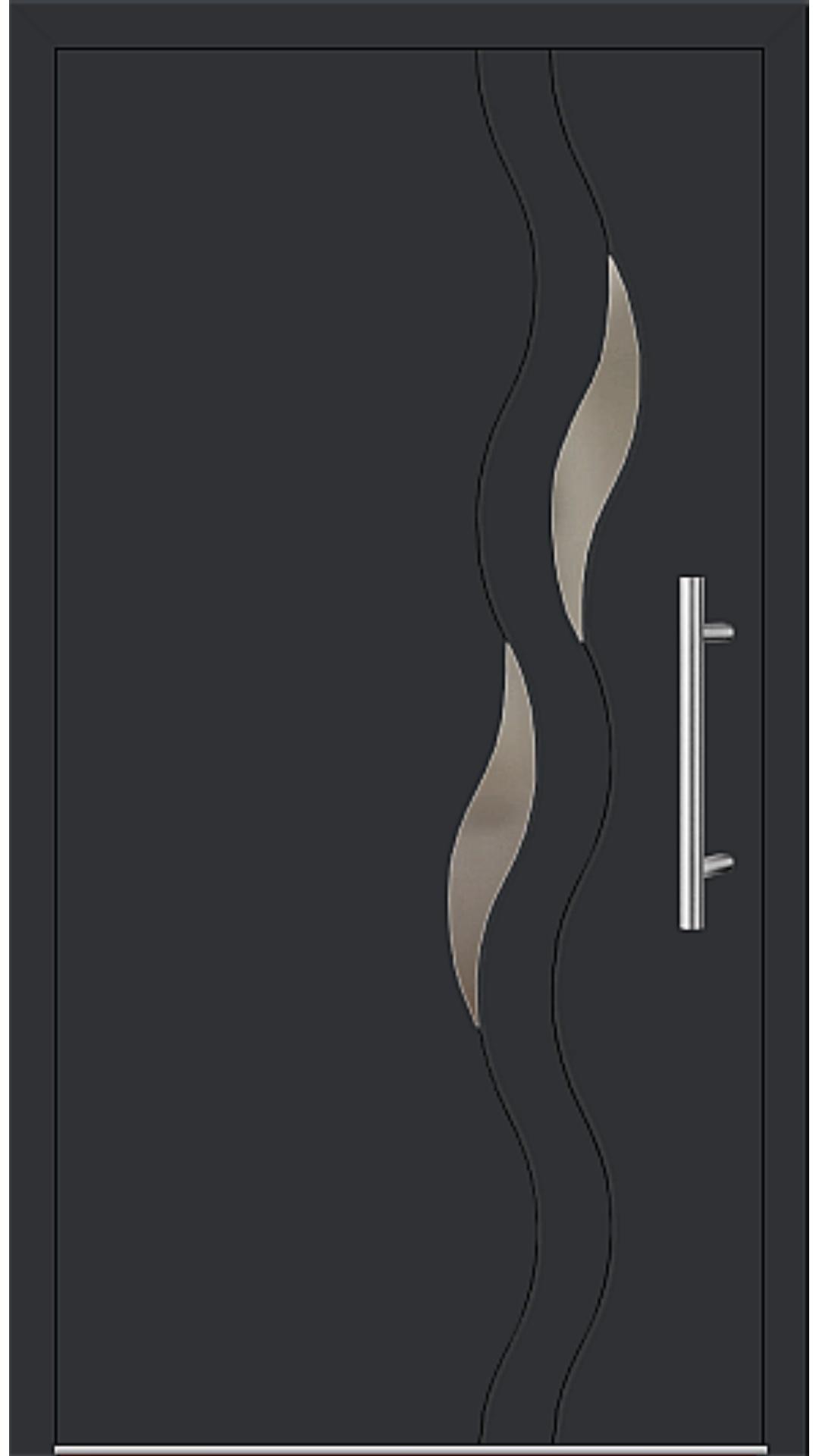 Aluminium Haustür Modell 6938-40 schwarz