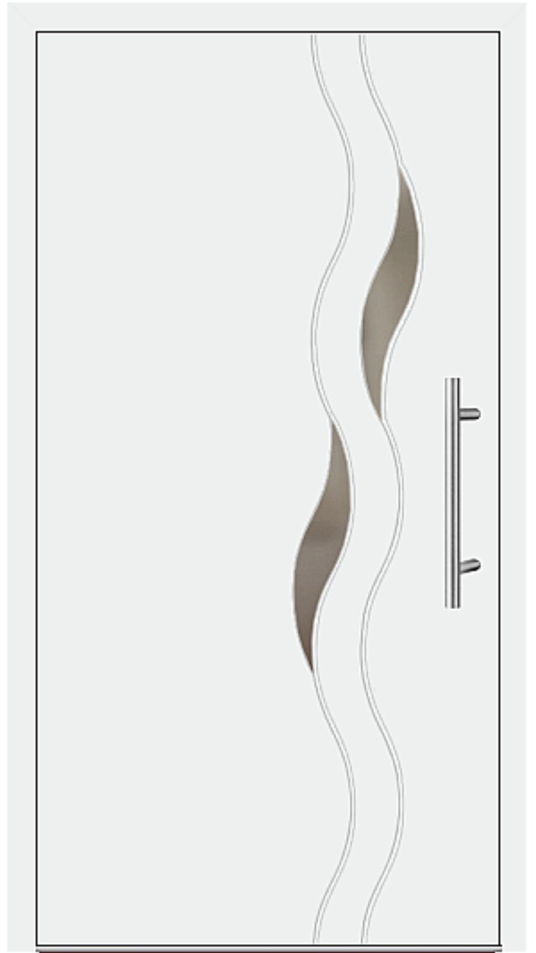 Aluminium Haustür Modell 6938-40 weiß
