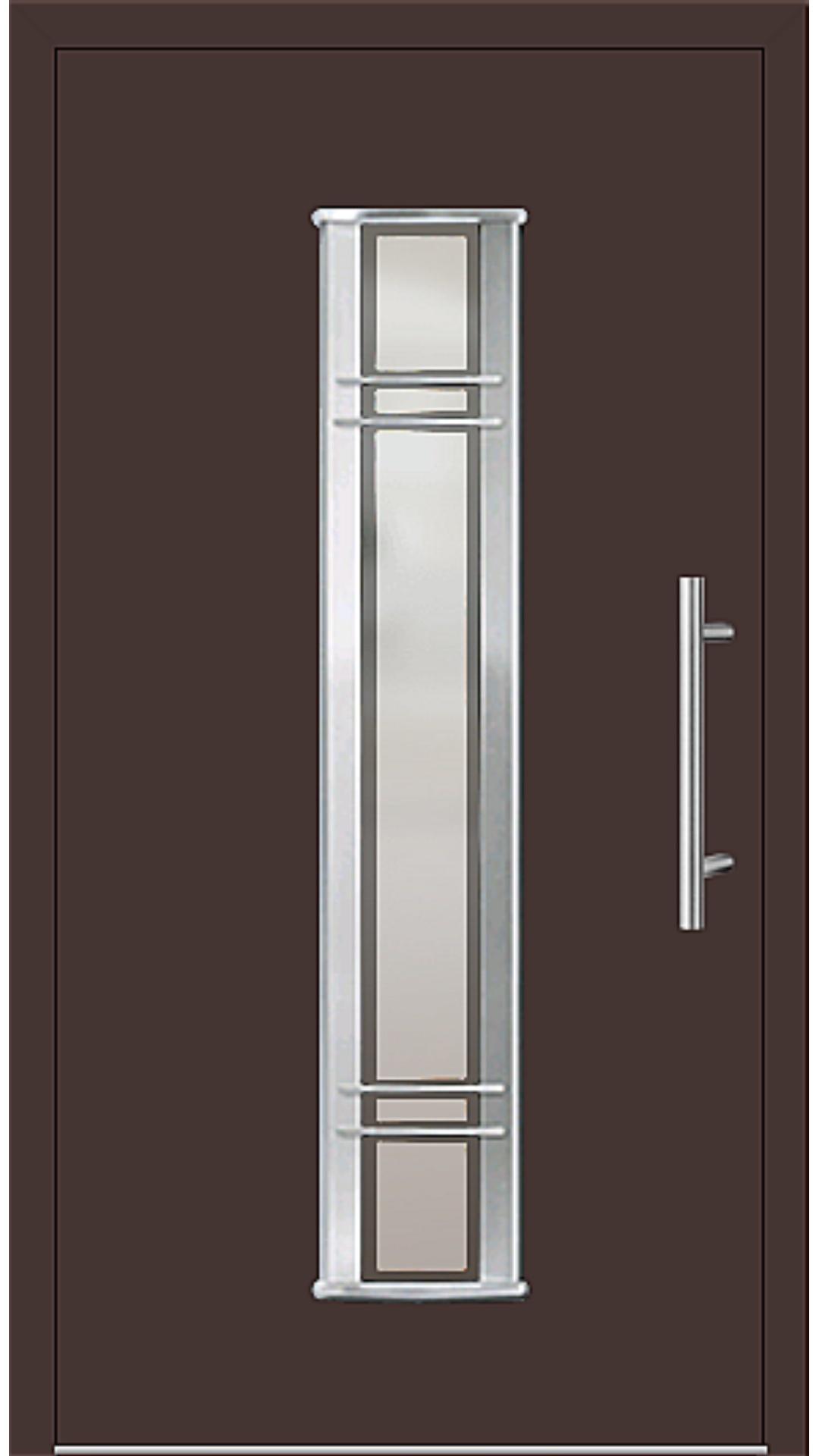Aluminium Haustür Modell 6962-79 mahagonibraun