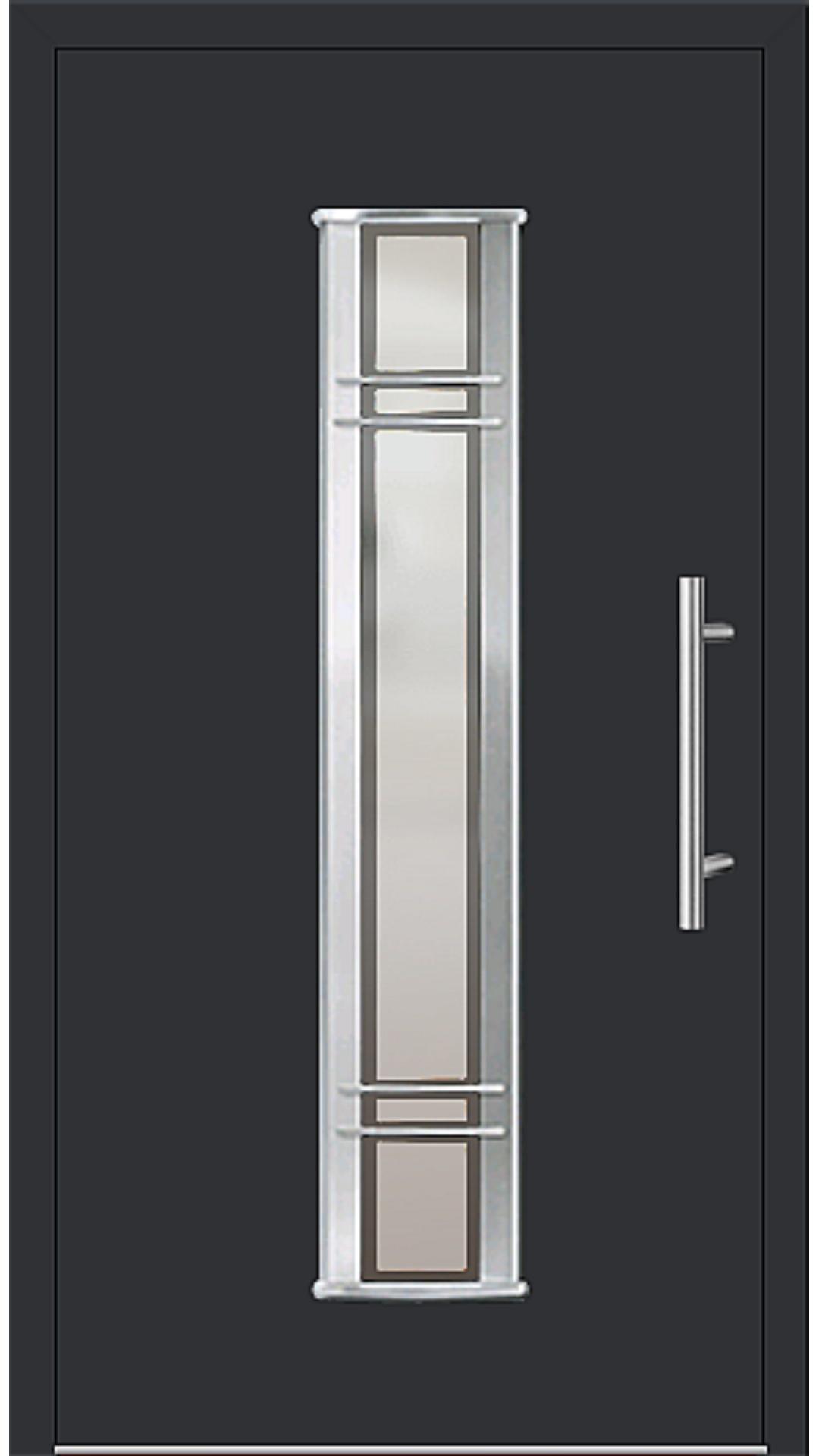 Aluminium Haustür Modell 6962-79 schwarz