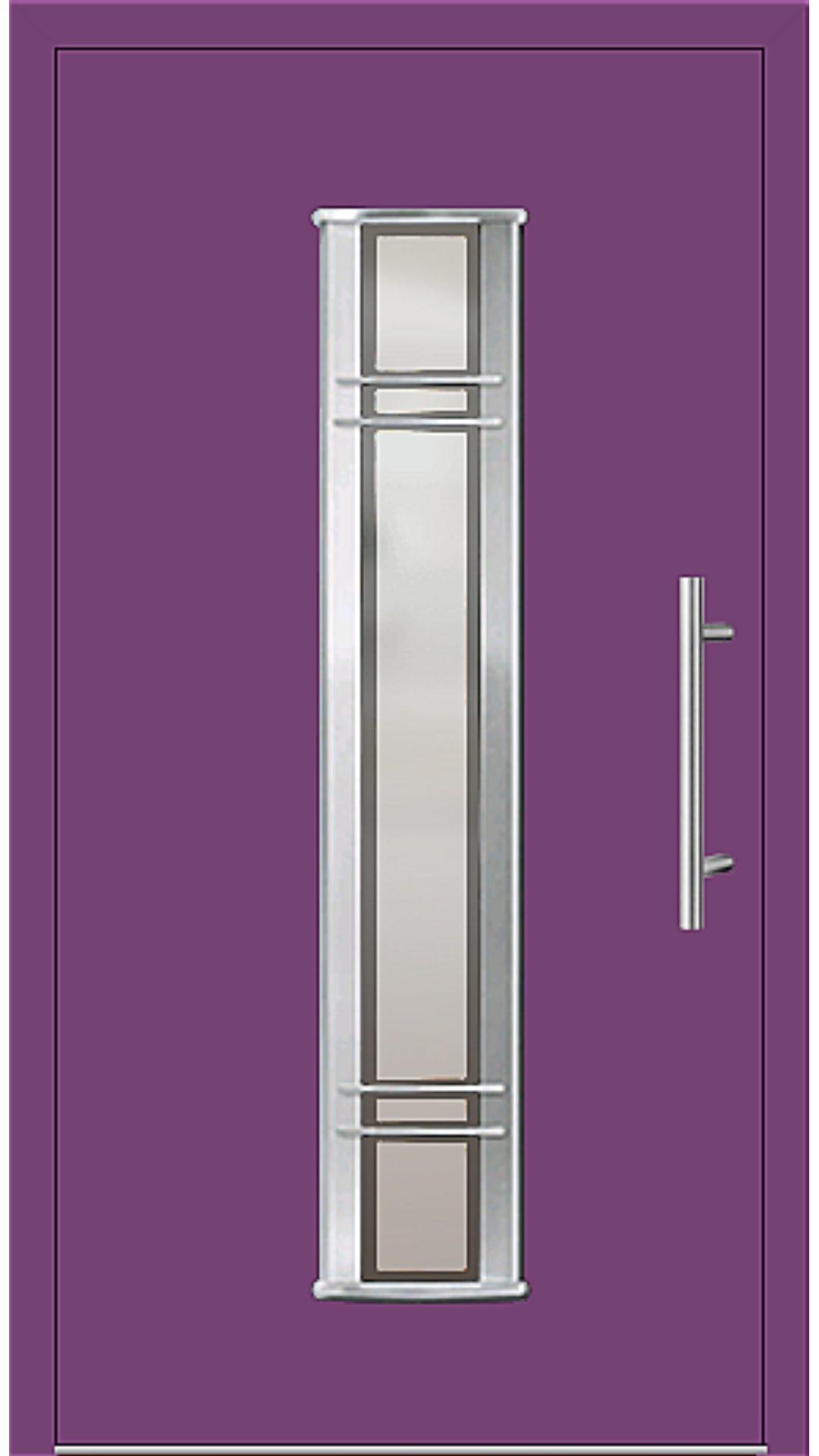 Aluminium Haustür Modell 6962-79 singalviolett