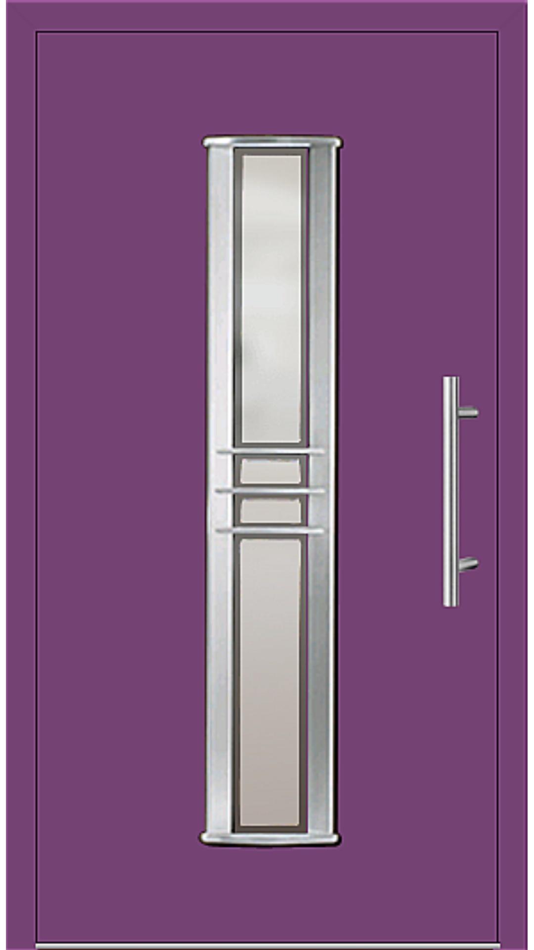 Aluminium Haustür Modell 6963-79 singalviolett