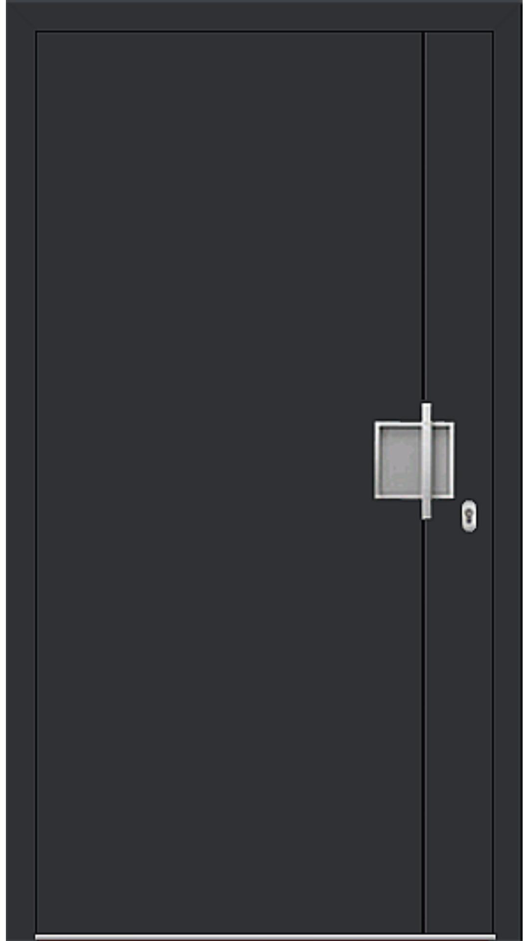 Aluminium Haustür Modell 6971-92 schwarz
