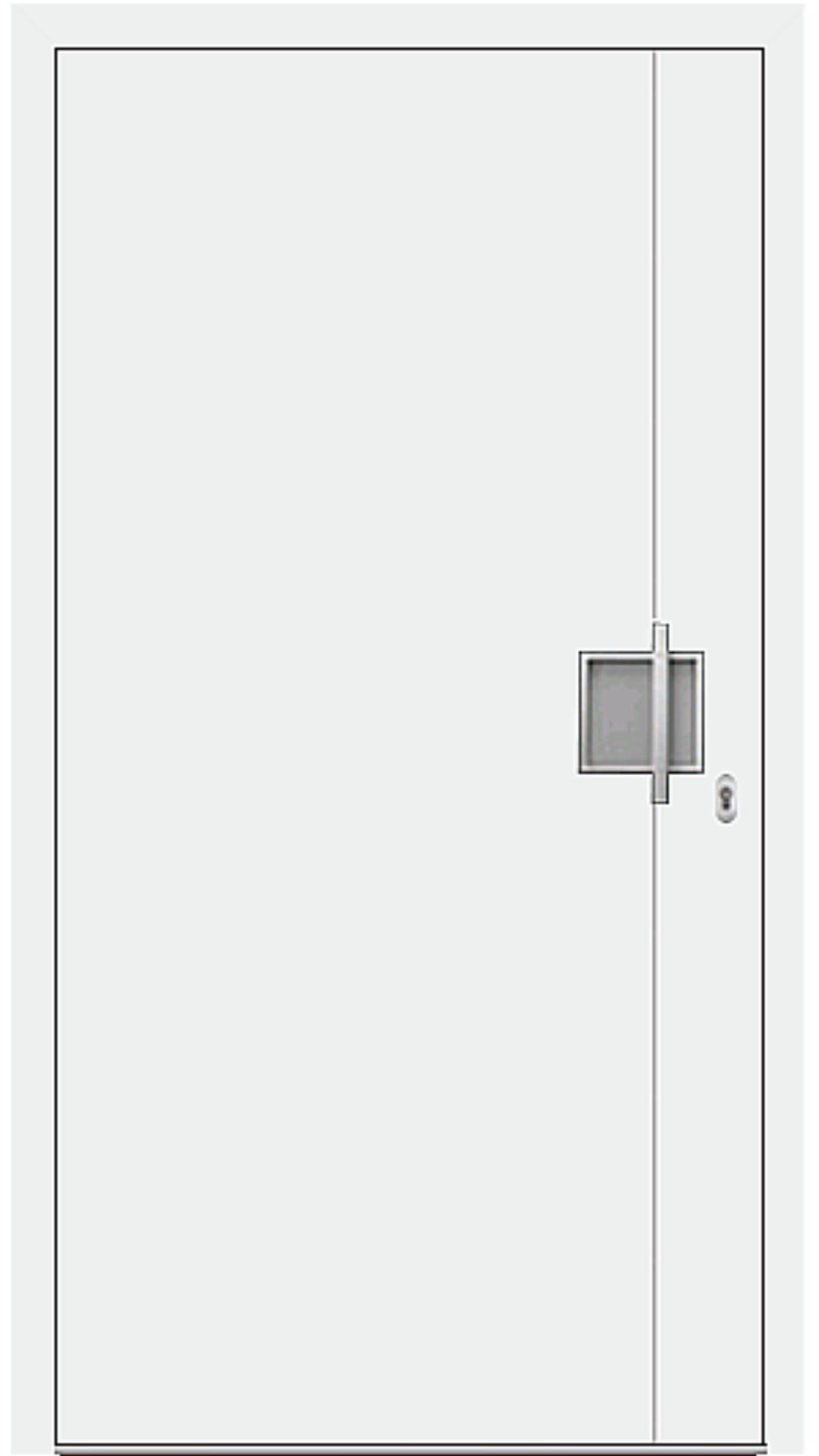 Aluminium Haustür Modell 6971-92 weiß