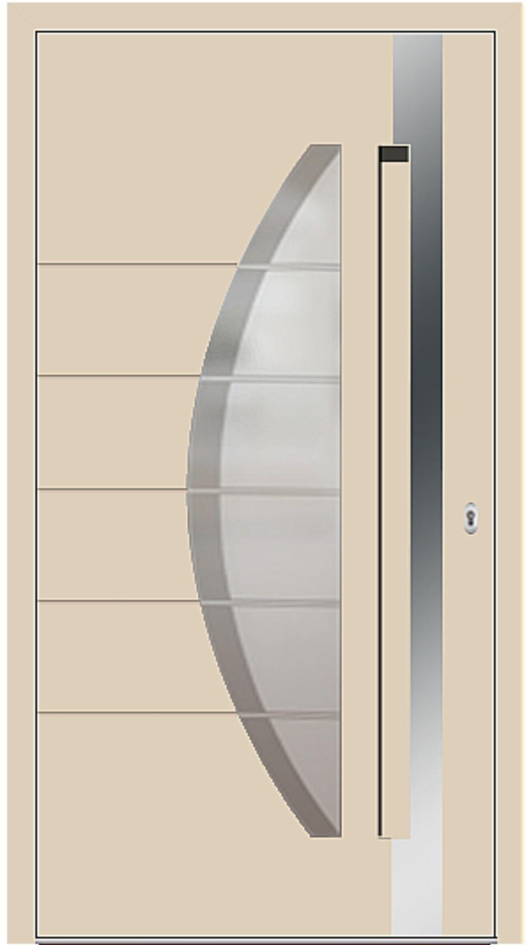 Aluminium Haustür Modell 6973-40 beige
