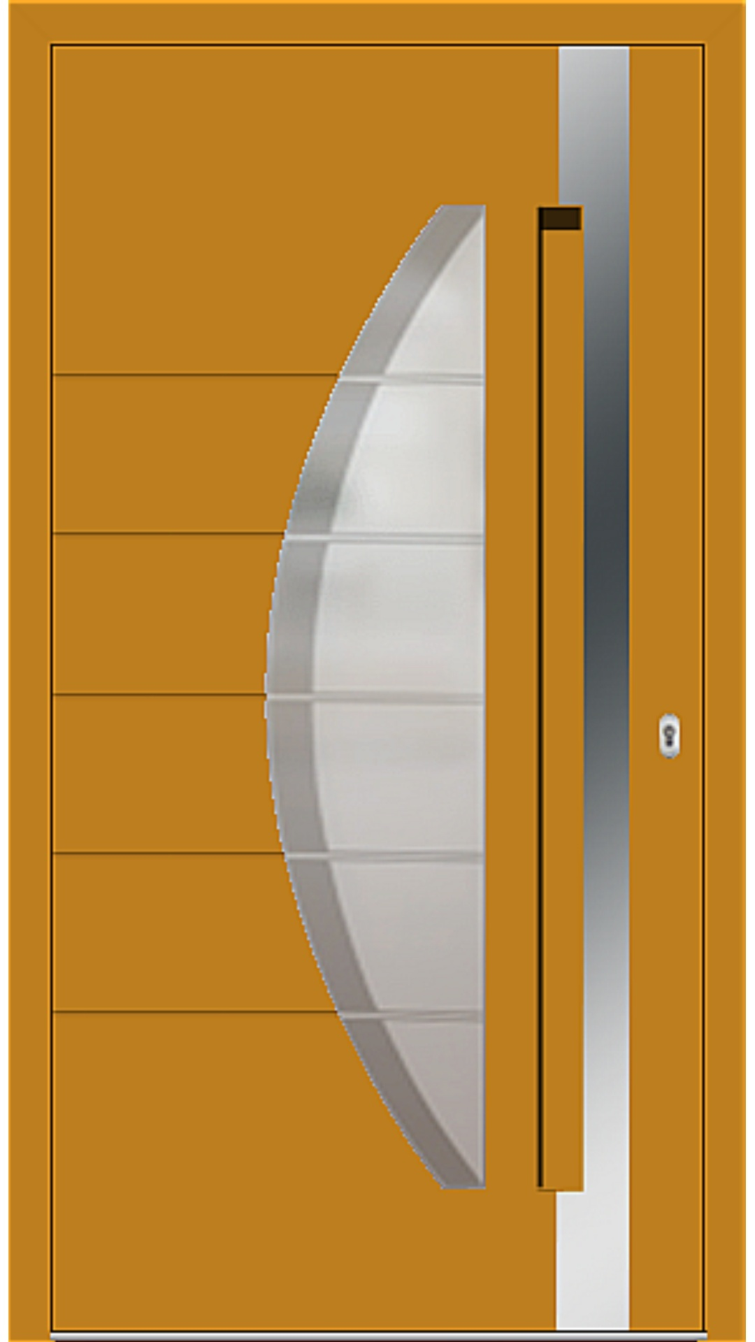 Aluminium Haustür Modell 6973-40 honiggelb