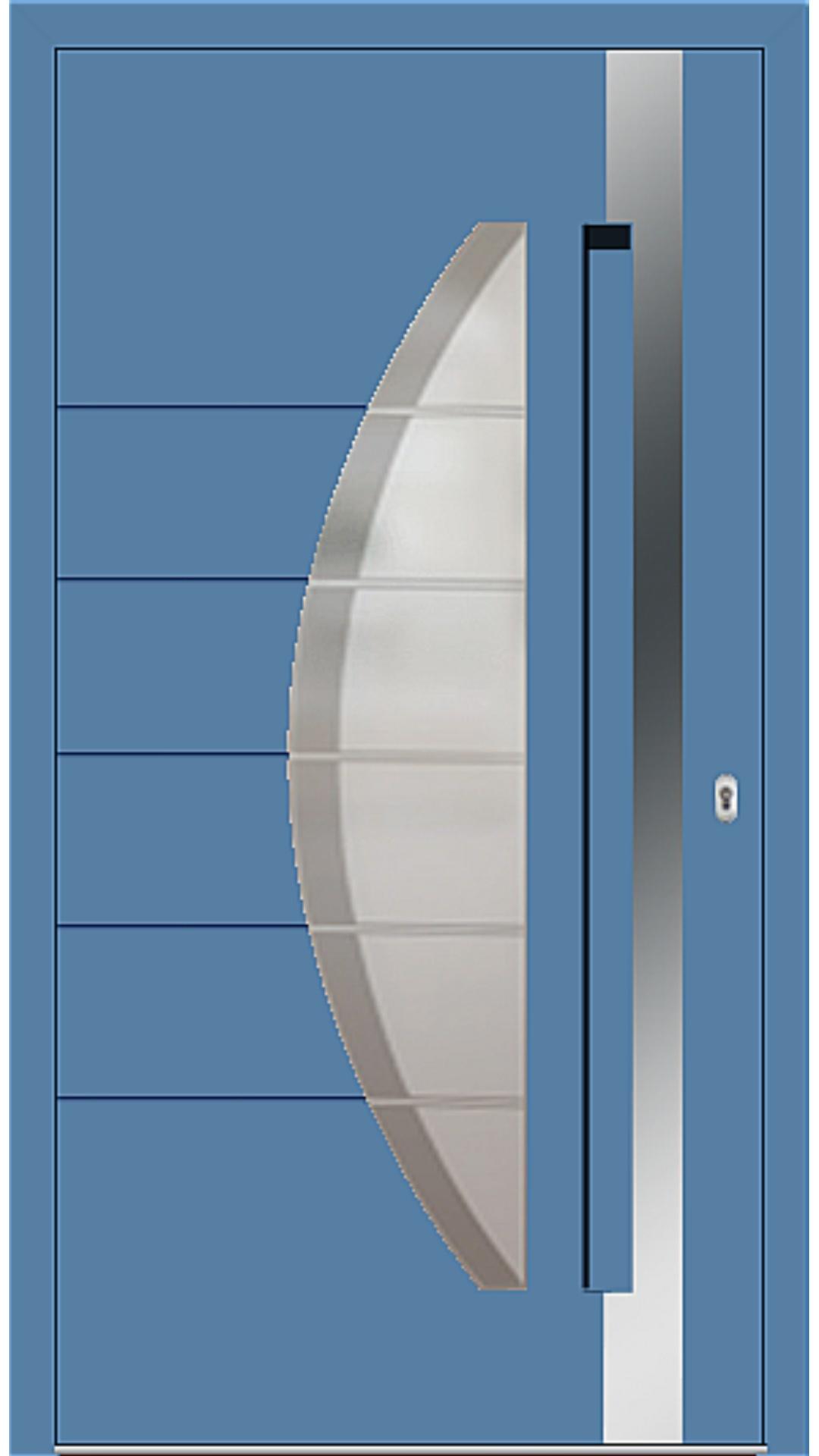 Aluminium Haustür Modell 6973-40 lichtblau