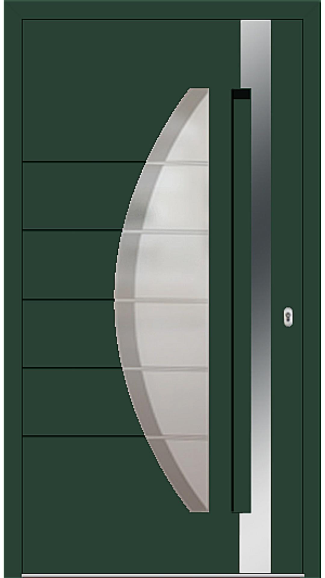 Aluminium Haustür Modell 6973-40 moosgrün