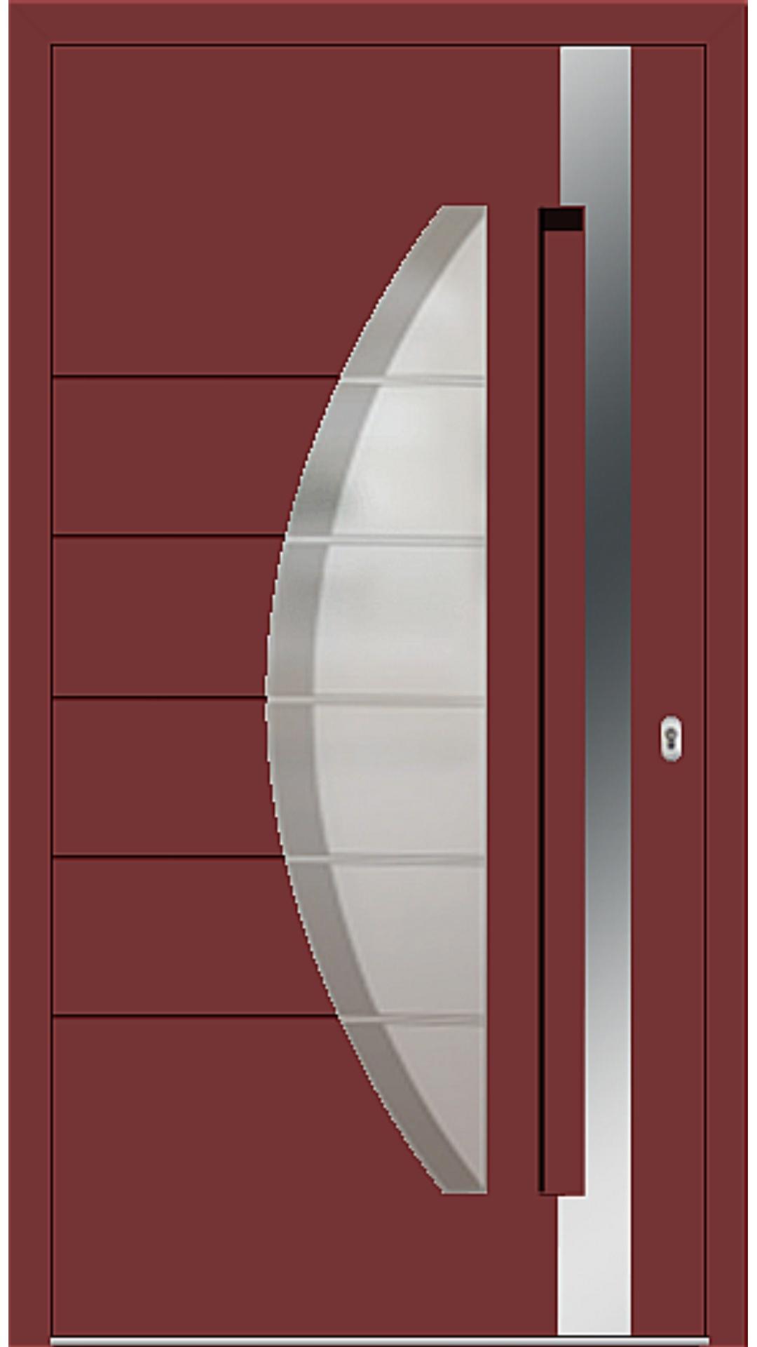 Aluminium Haustür Modell 6973-40 rubinrot
