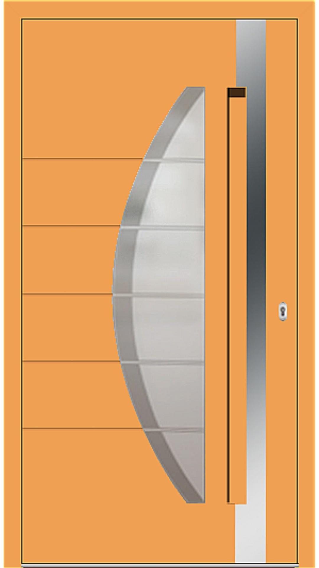Aluminium Haustür Modell 6973-40 safrangelb