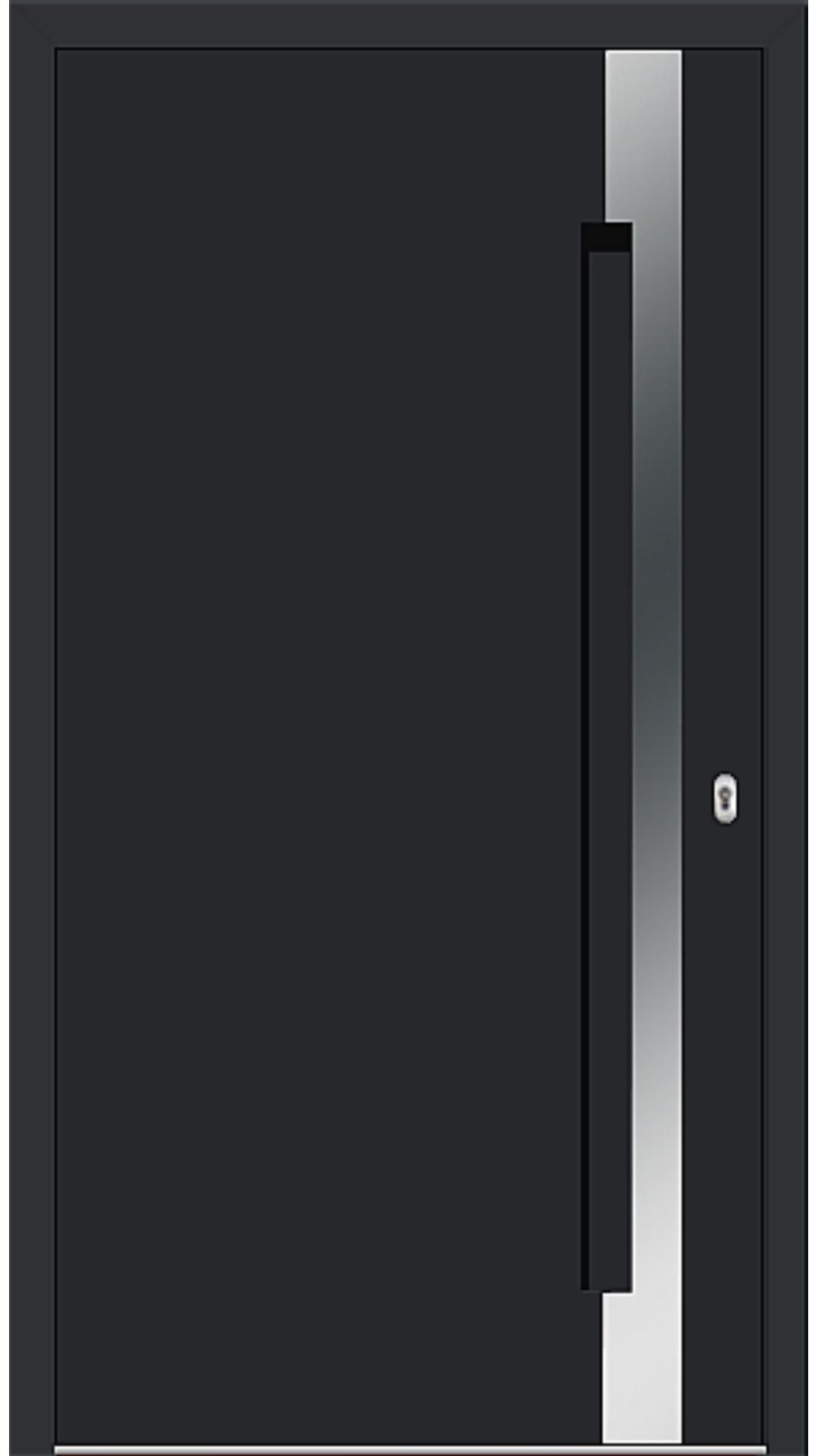 Aluminium Haustür Modell 6974-40 schwarz