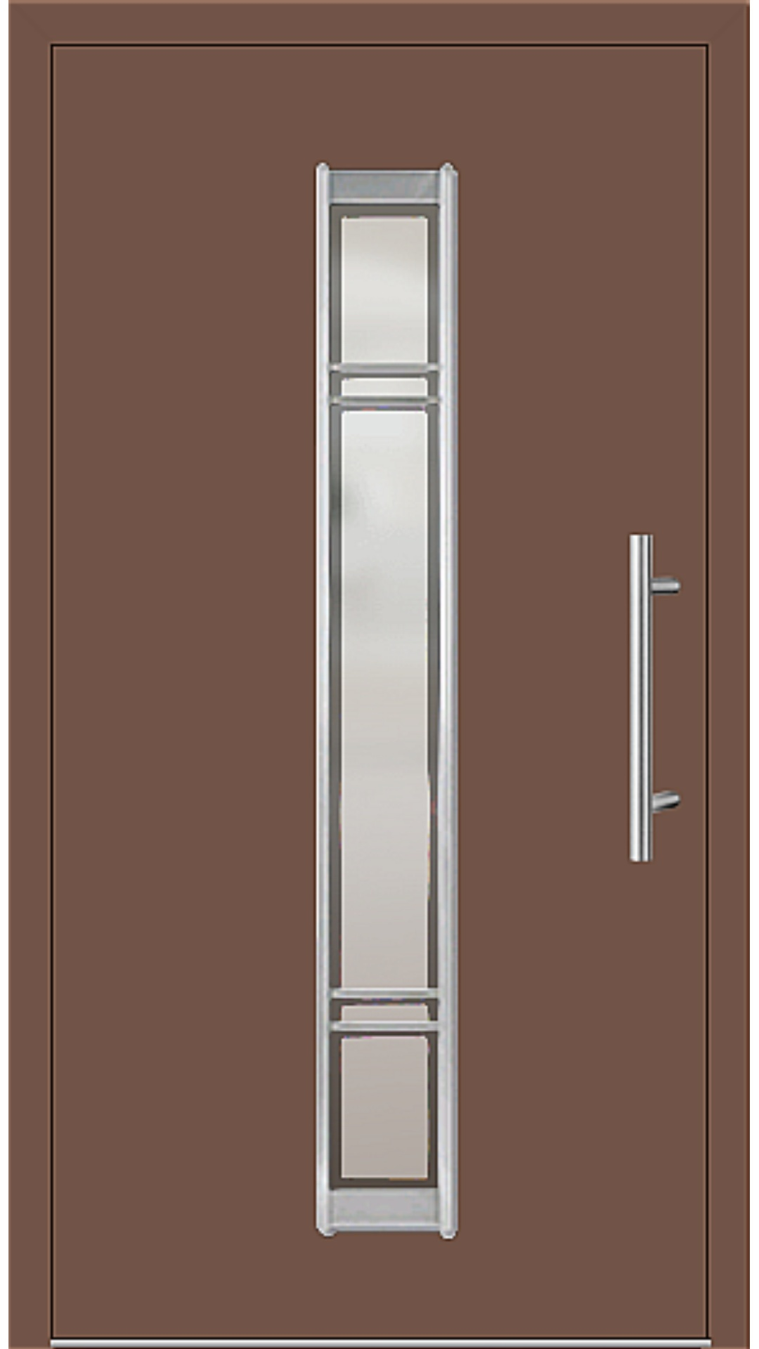 Aluminium Haustür Modell 6977-79 lehmbraun