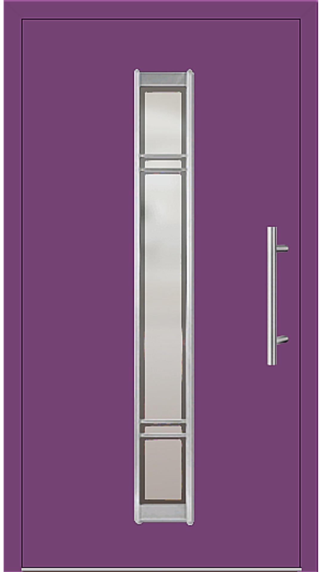 Aluminium Haustür Modell 6977-79 singalviolett
