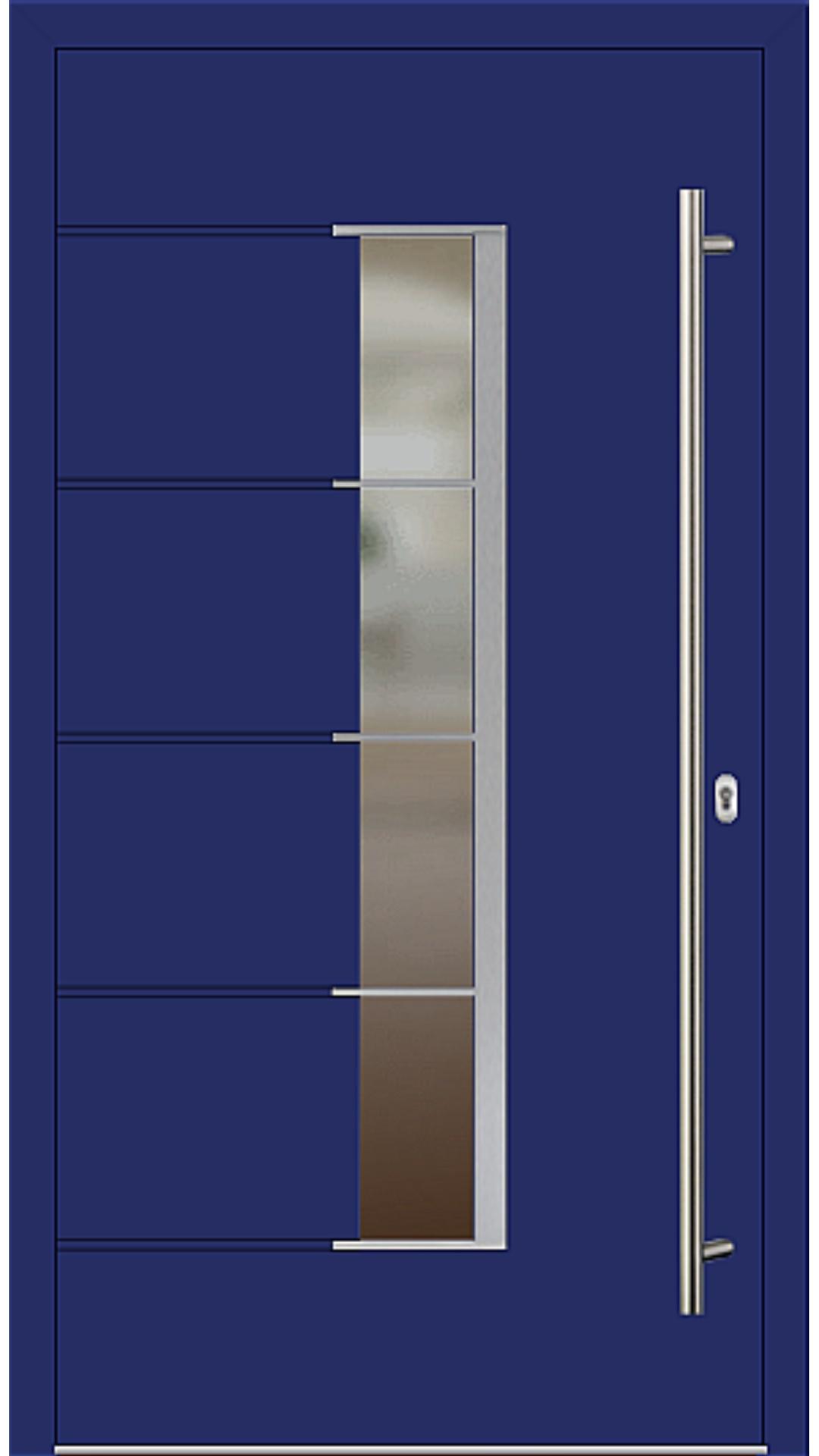 Aluminium Haustür Modell 6978-79 ultramarinblau