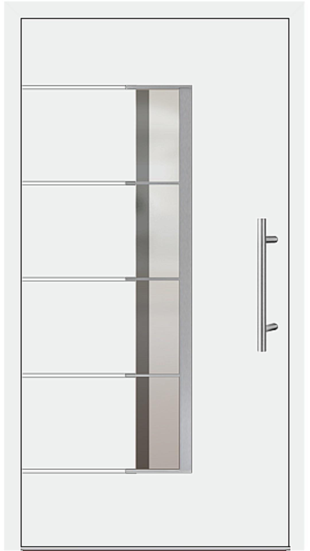 Aluminium Haustür Modell 6978-79 weiß