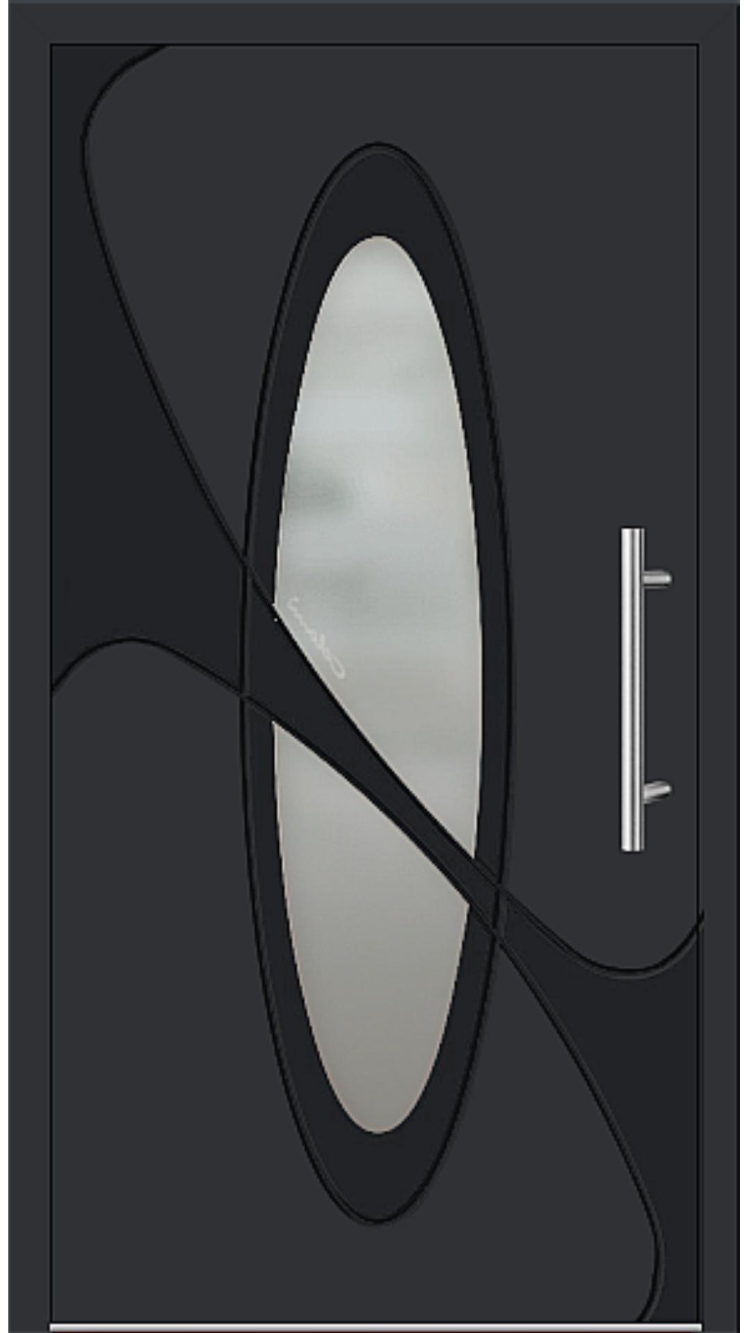 Aluminium Haustür Modell 6990-41 schwarz