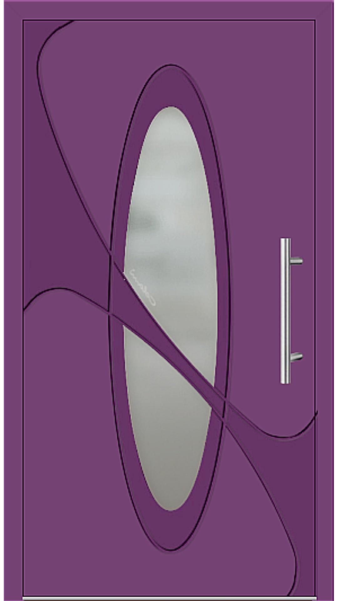Aluminium Haustür Modell 6990-41 singalviolett