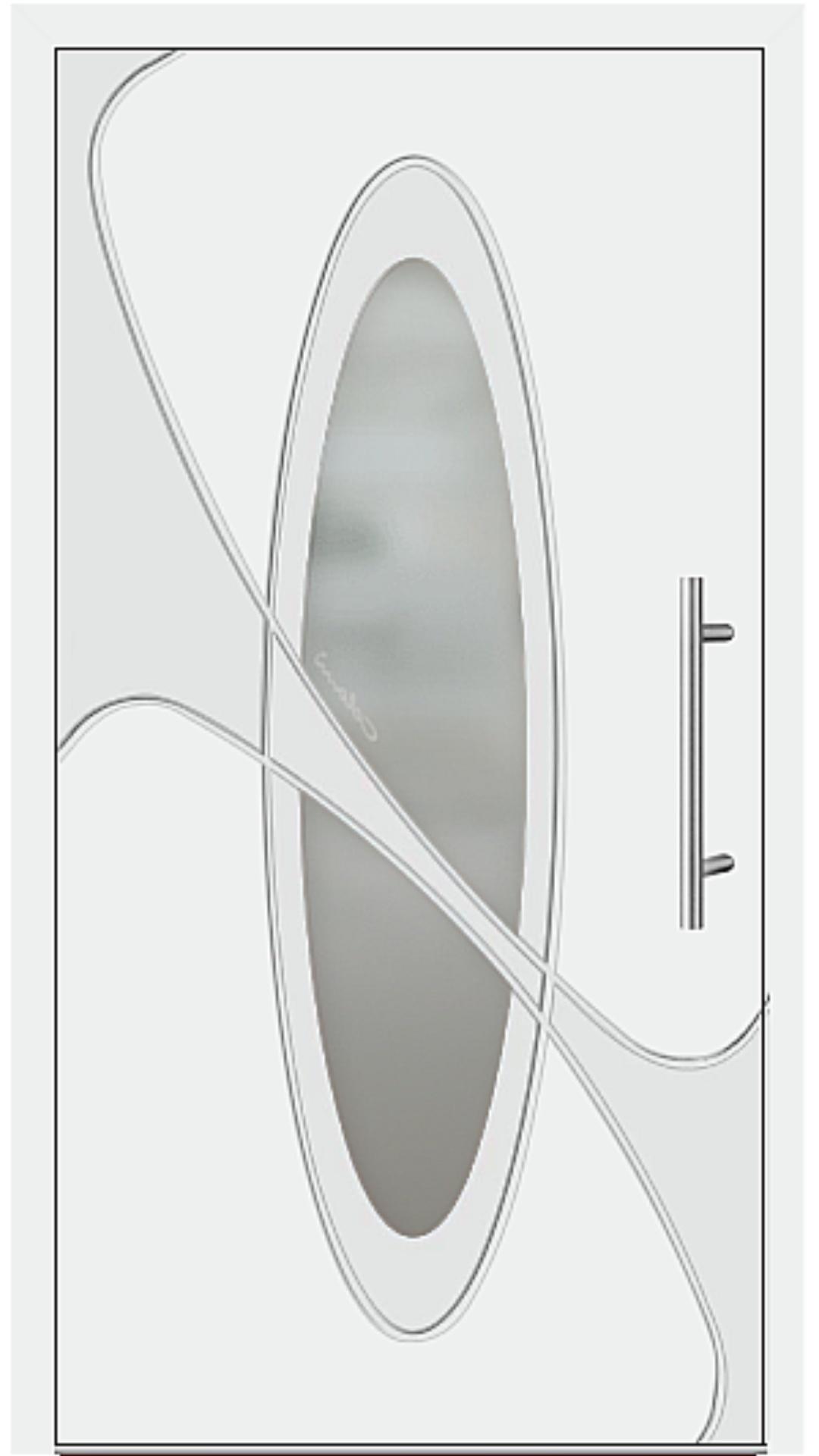 Aluminium Haustür Modell 6990-41 weiß