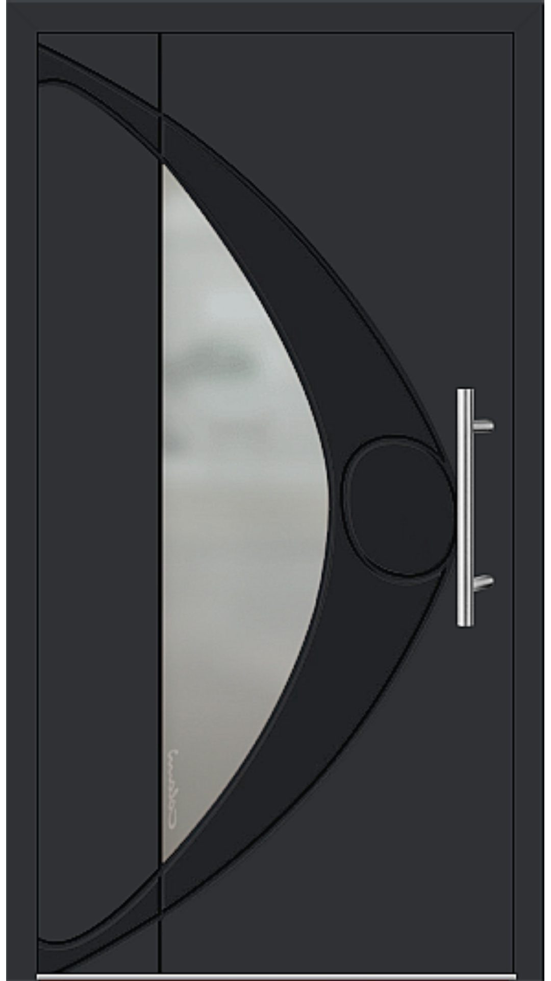 Aluminium Haustür Modell 6993-41 schwarz