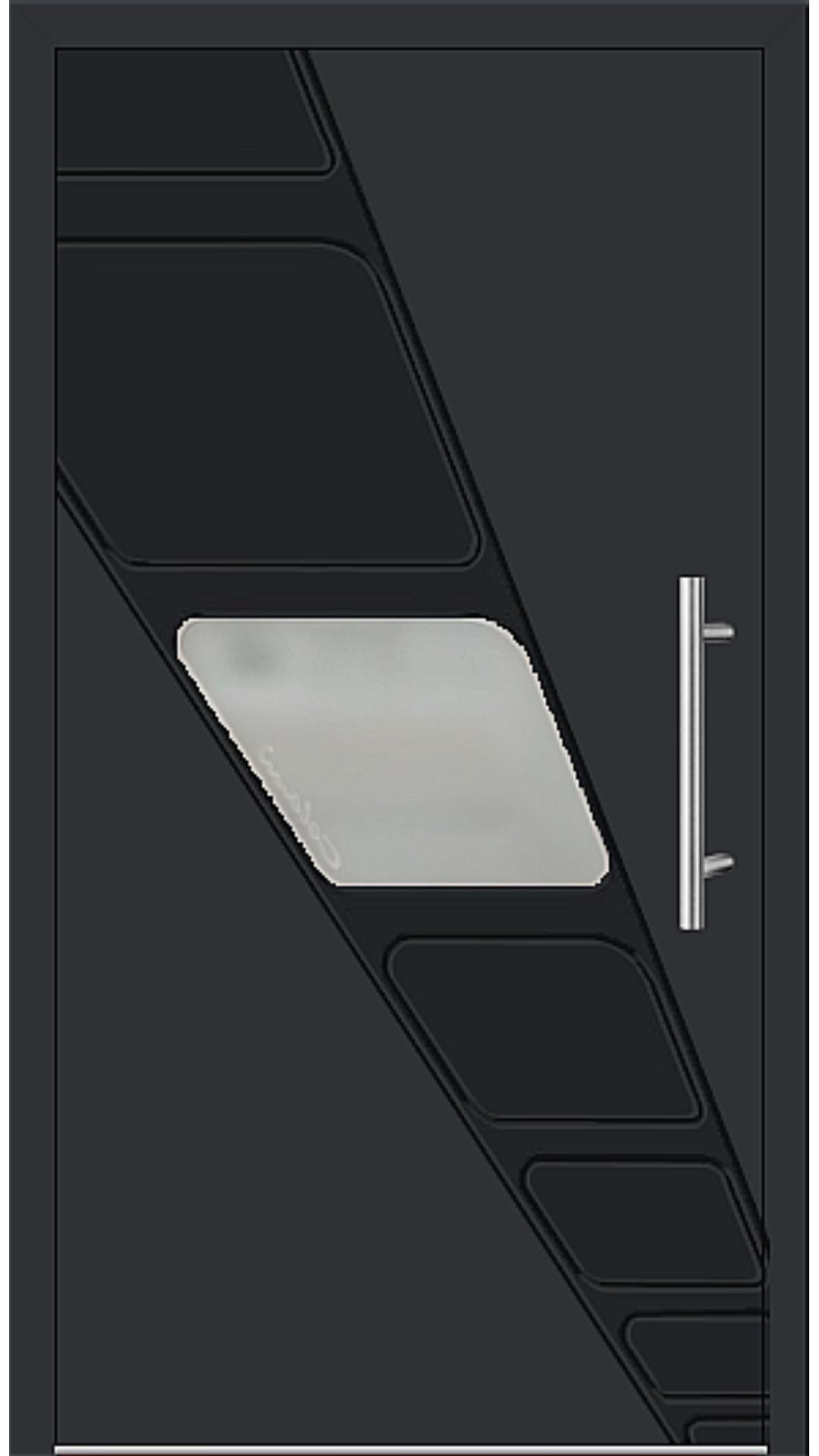 Aluminium Haustür Modell 6994-41 schwarz