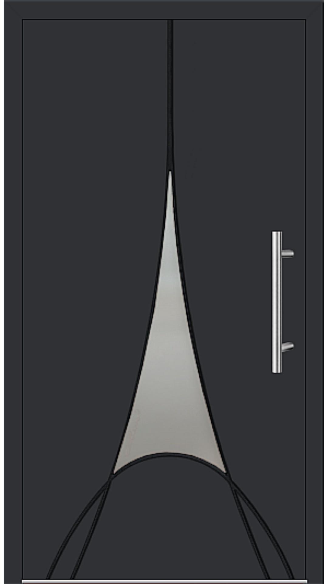 Aluminium Haustür Modell 6997-41 schwarz