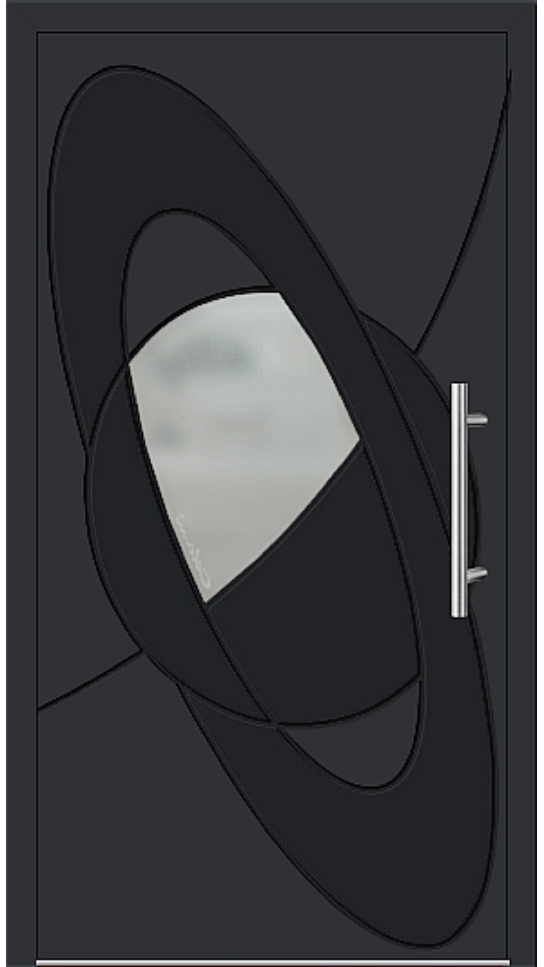 Aluminium Haustür Modell 6998-41 schwarz